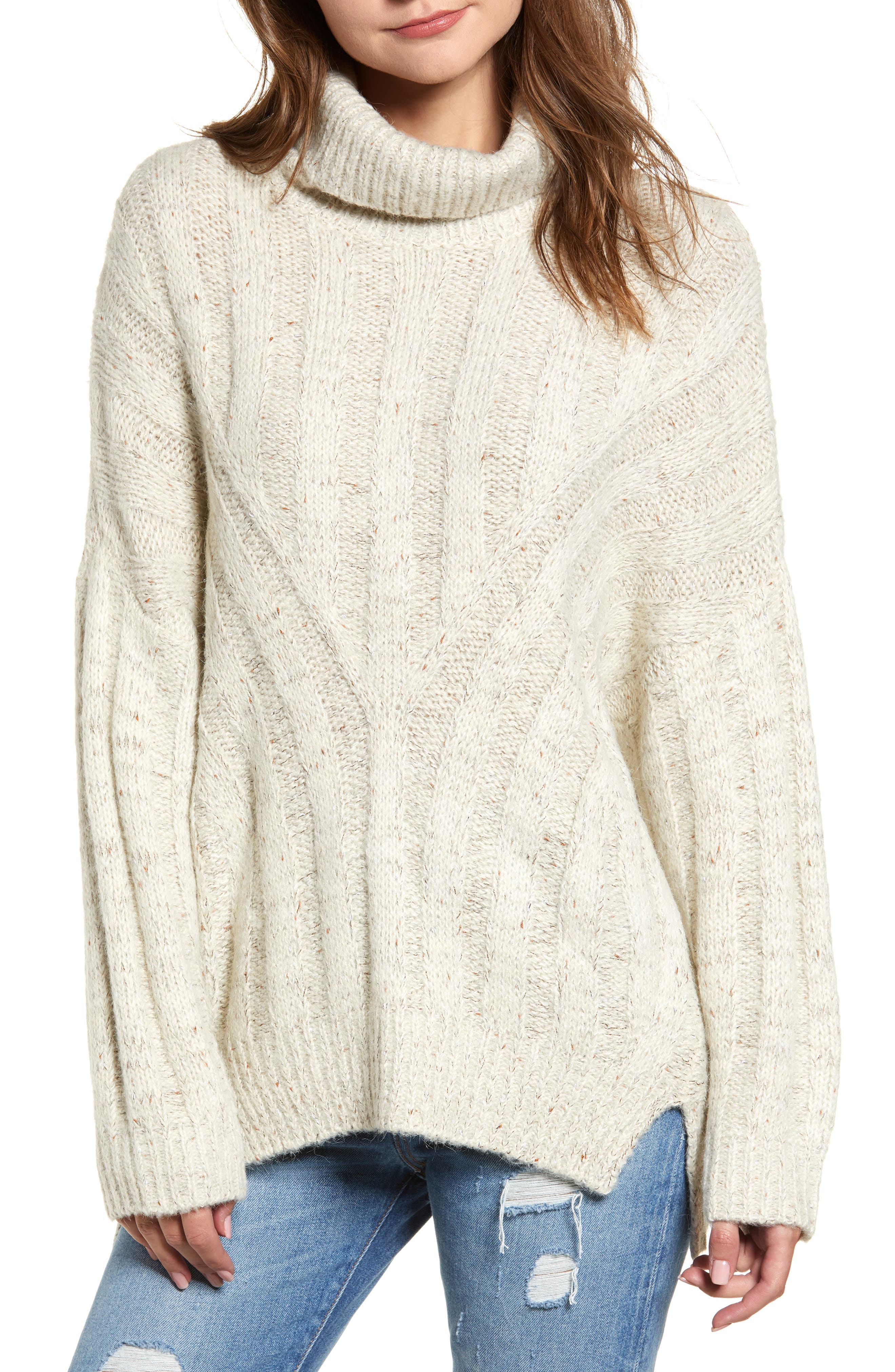 Oversized Turtleneck Sweater,                             Main thumbnail 1, color,                             250