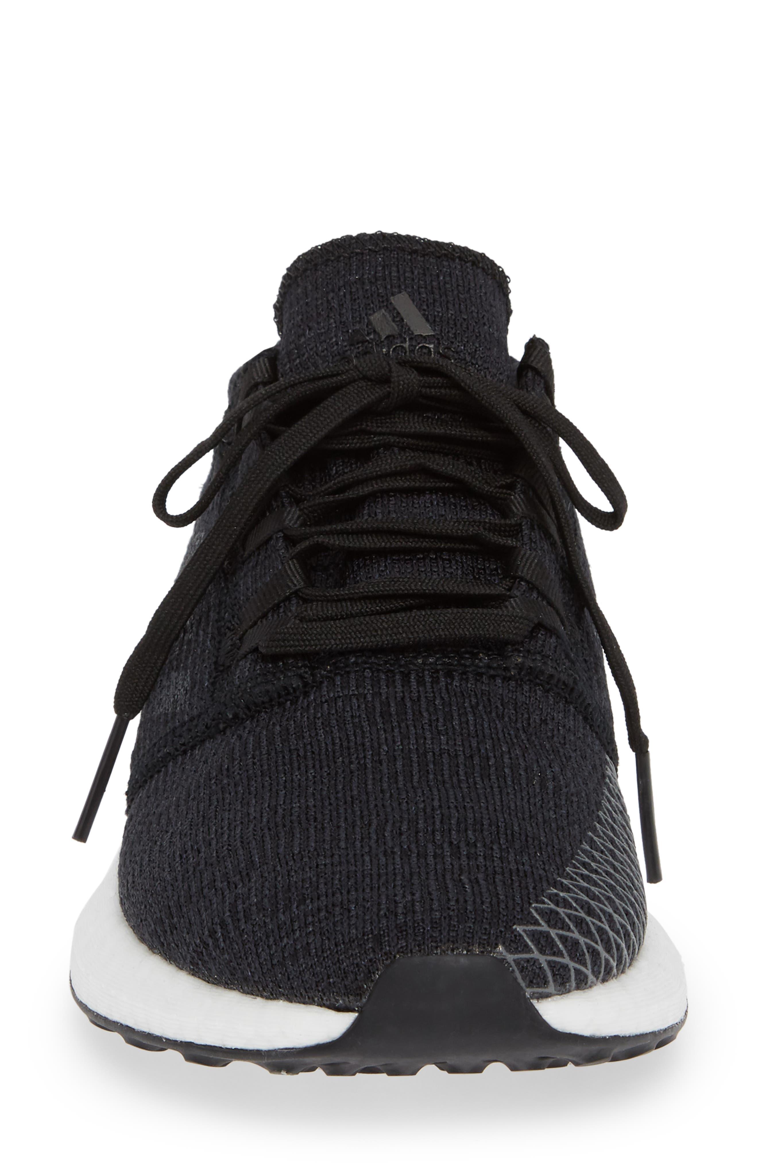 PureBoost X Element Knit Running Shoe,                             Alternate thumbnail 4, color,                             001
