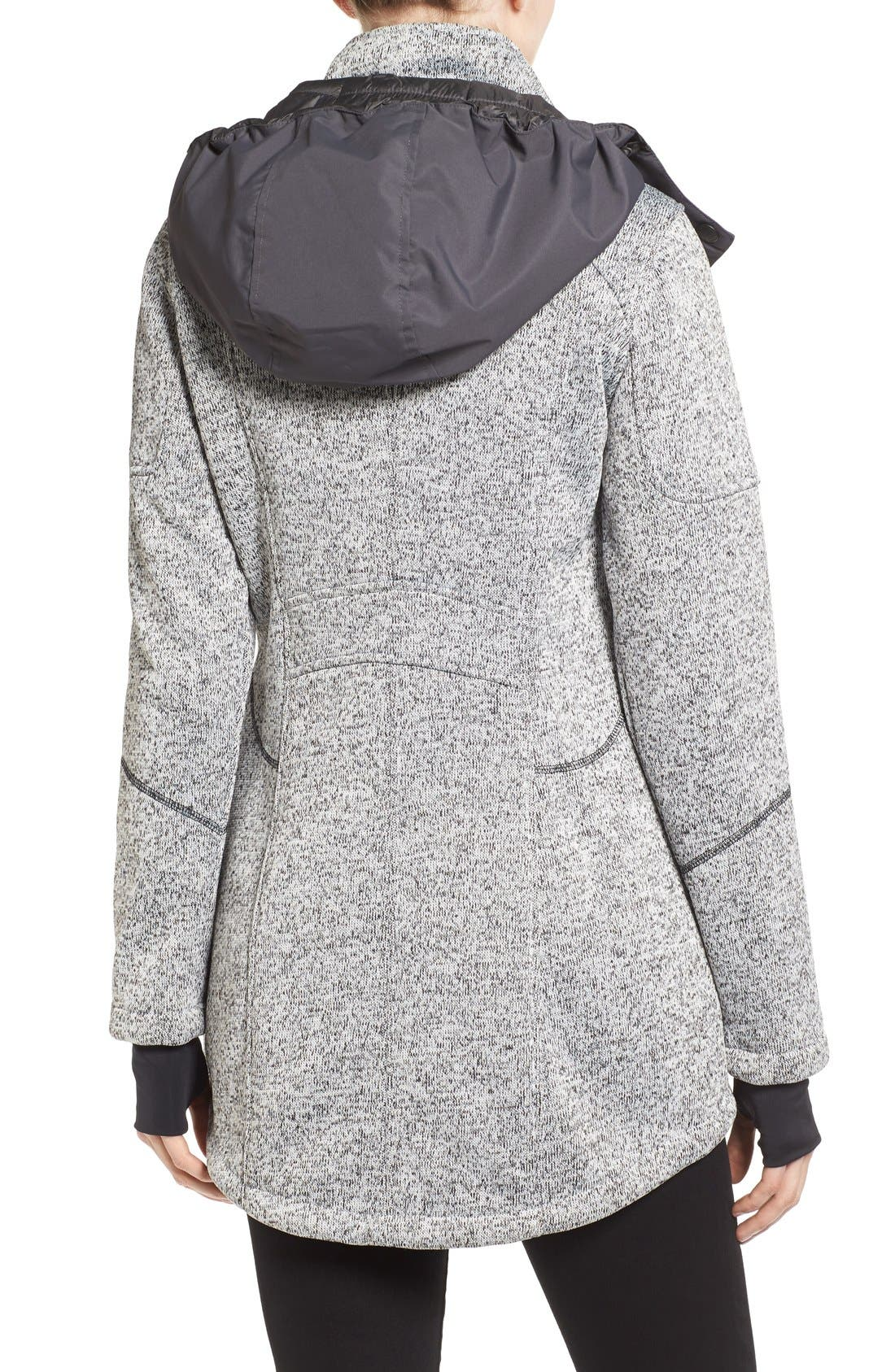 Bonded Knit Zip Front Jacket,                             Alternate thumbnail 2, color,                             070