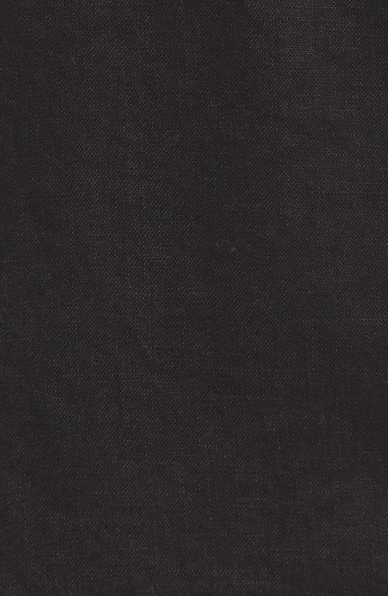Linen Ankle Pants,                             Alternate thumbnail 6, color,                             BLACK