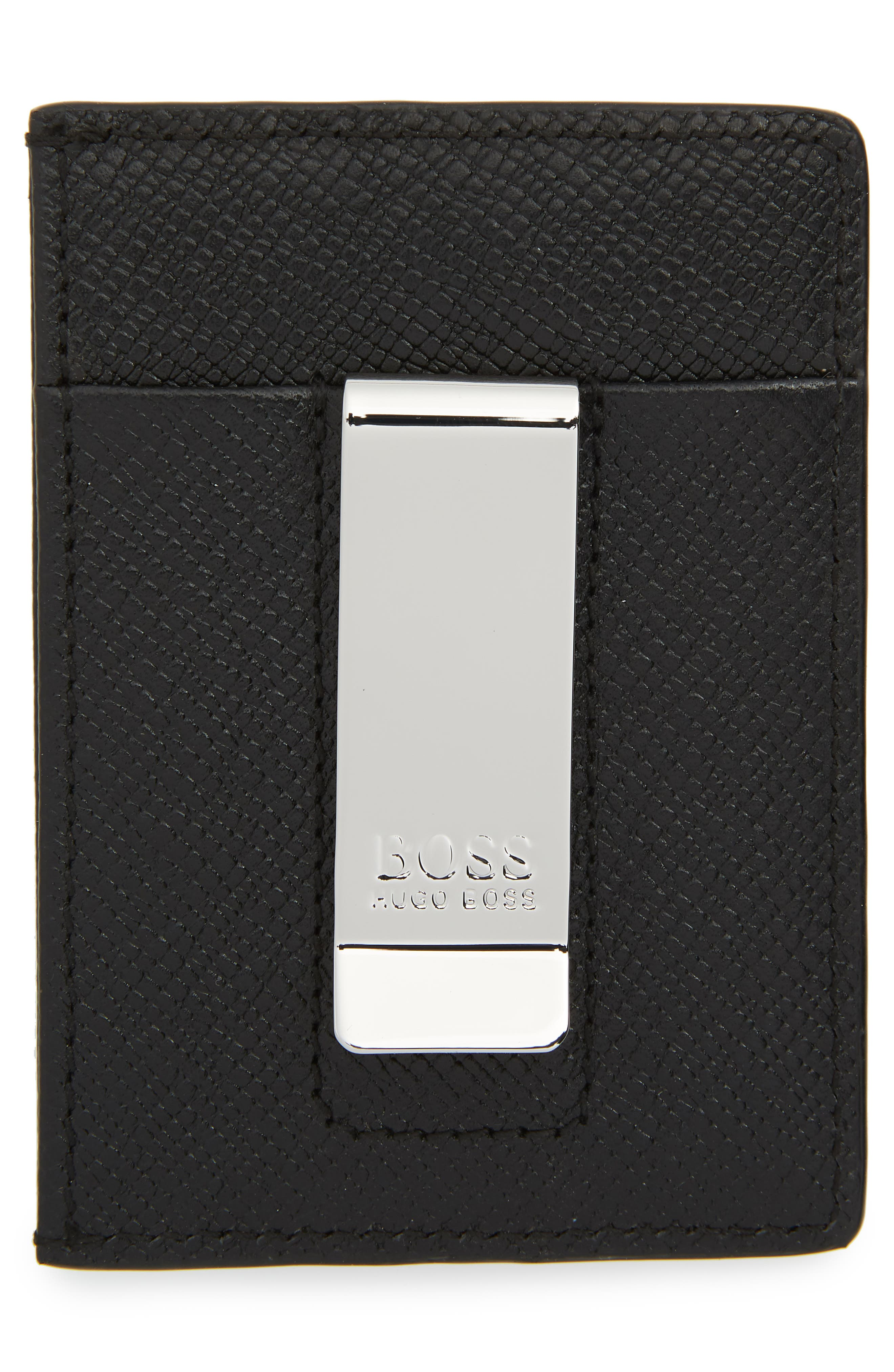 Signature Leather Money Clip,                             Alternate thumbnail 2, color,                             001