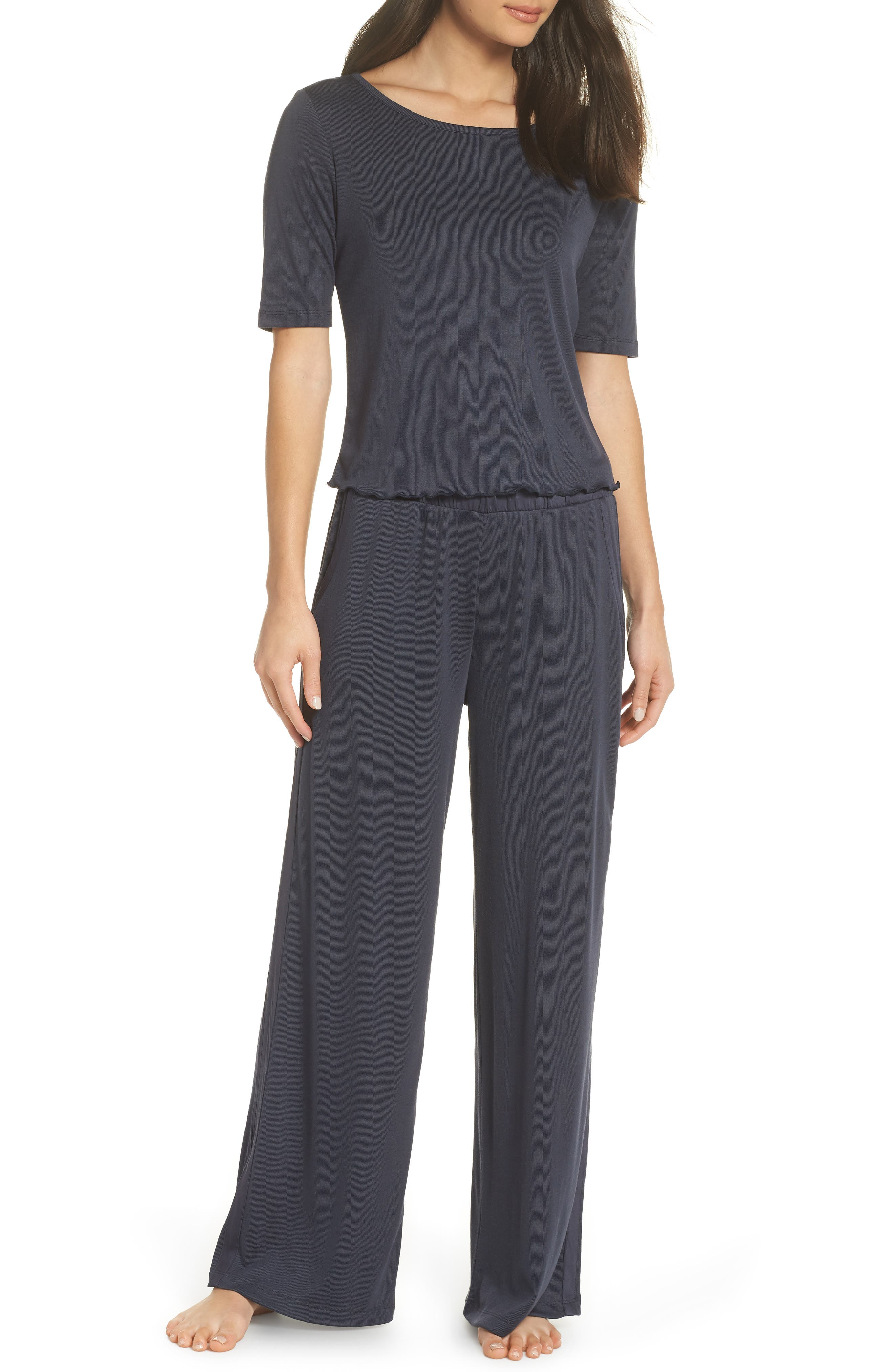 Ribbed Lounge Pants,                             Alternate thumbnail 7, color,                             DYNASTY
