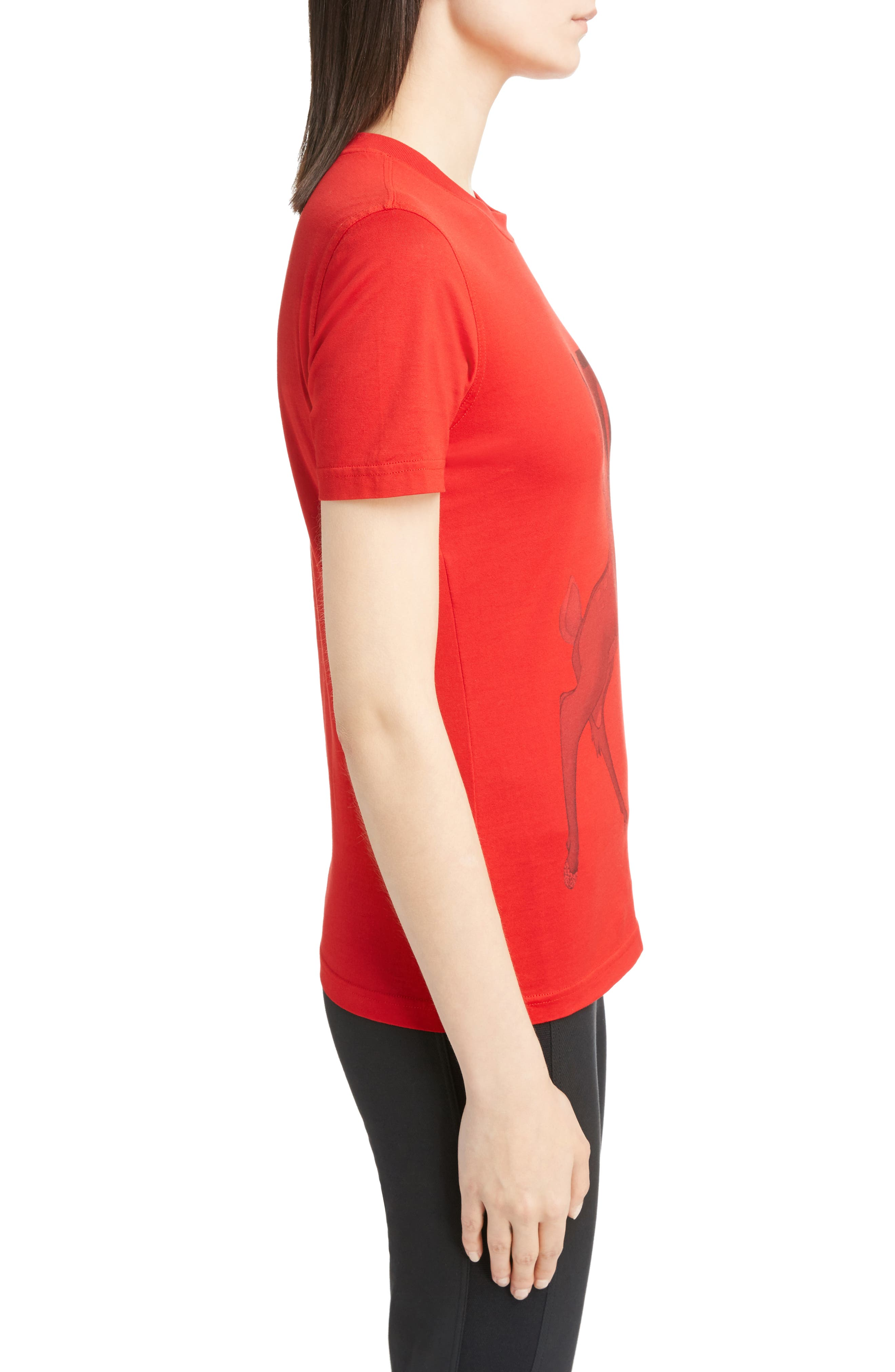 Bambi Cotton Tee,                             Alternate thumbnail 3, color,                             RED