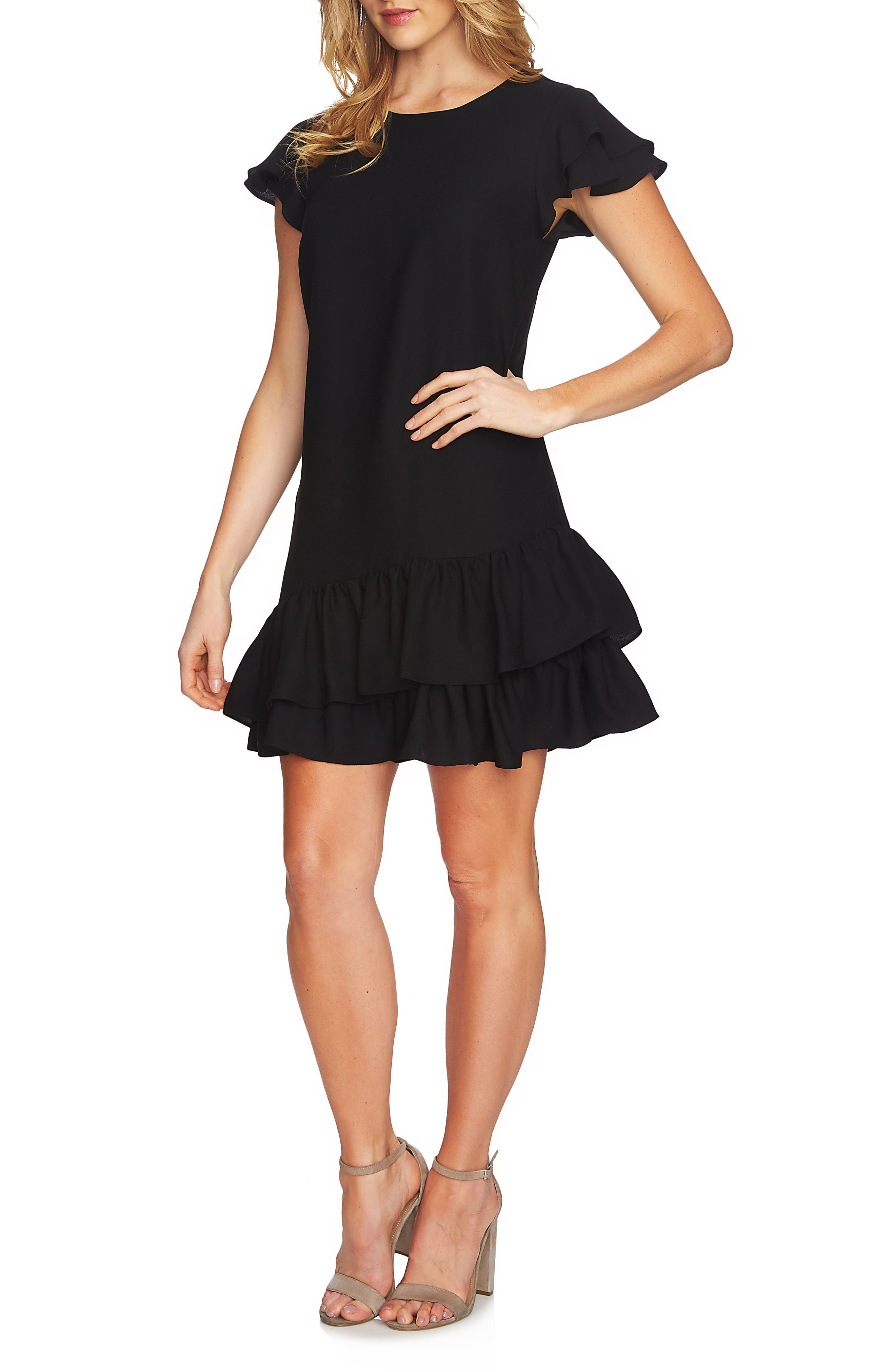 Claire Tiered Ruffle Dress,                             Main thumbnail 1, color,