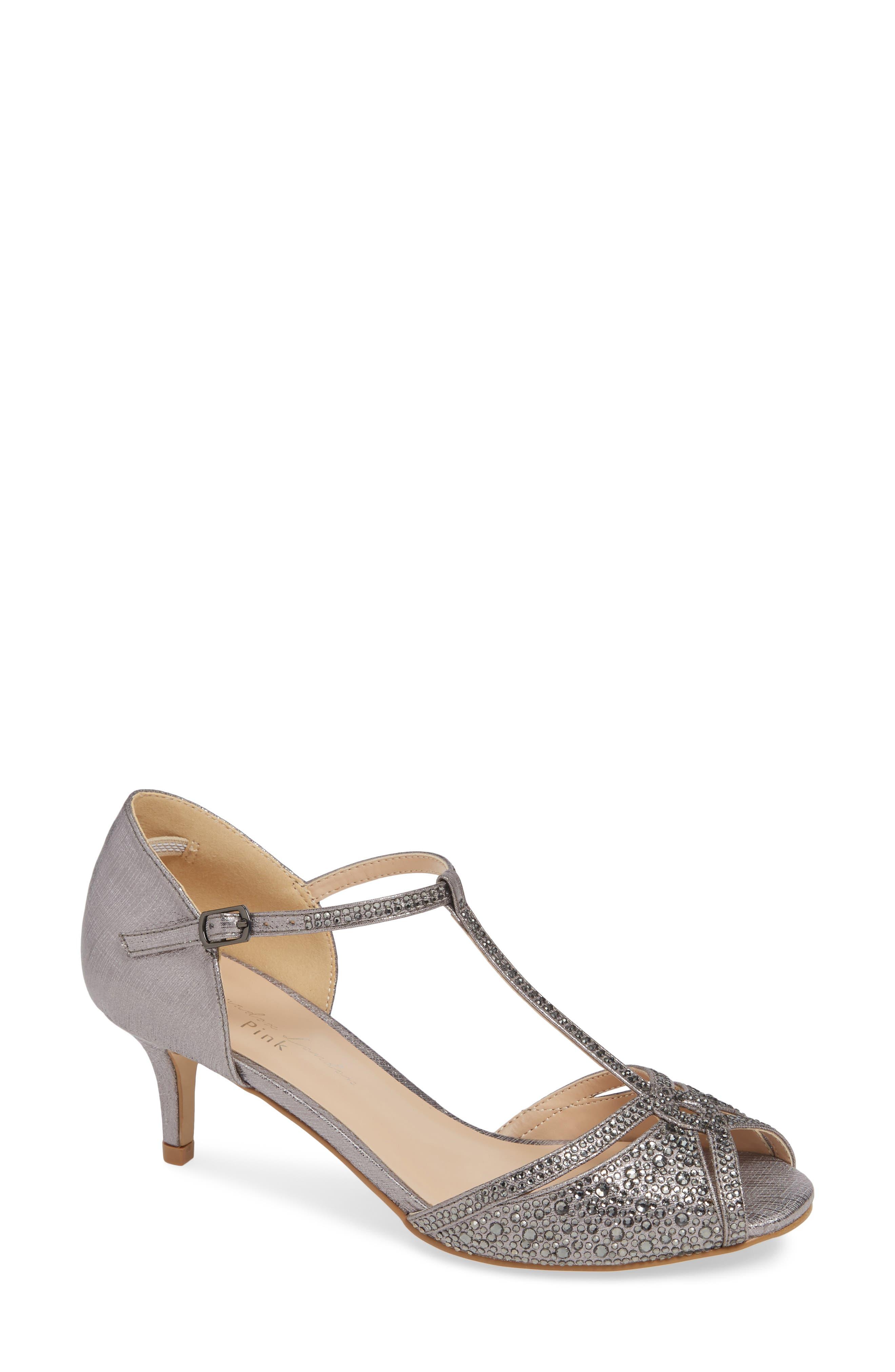Seva Sandal,                         Main,                         color, PEWTER GLITTER