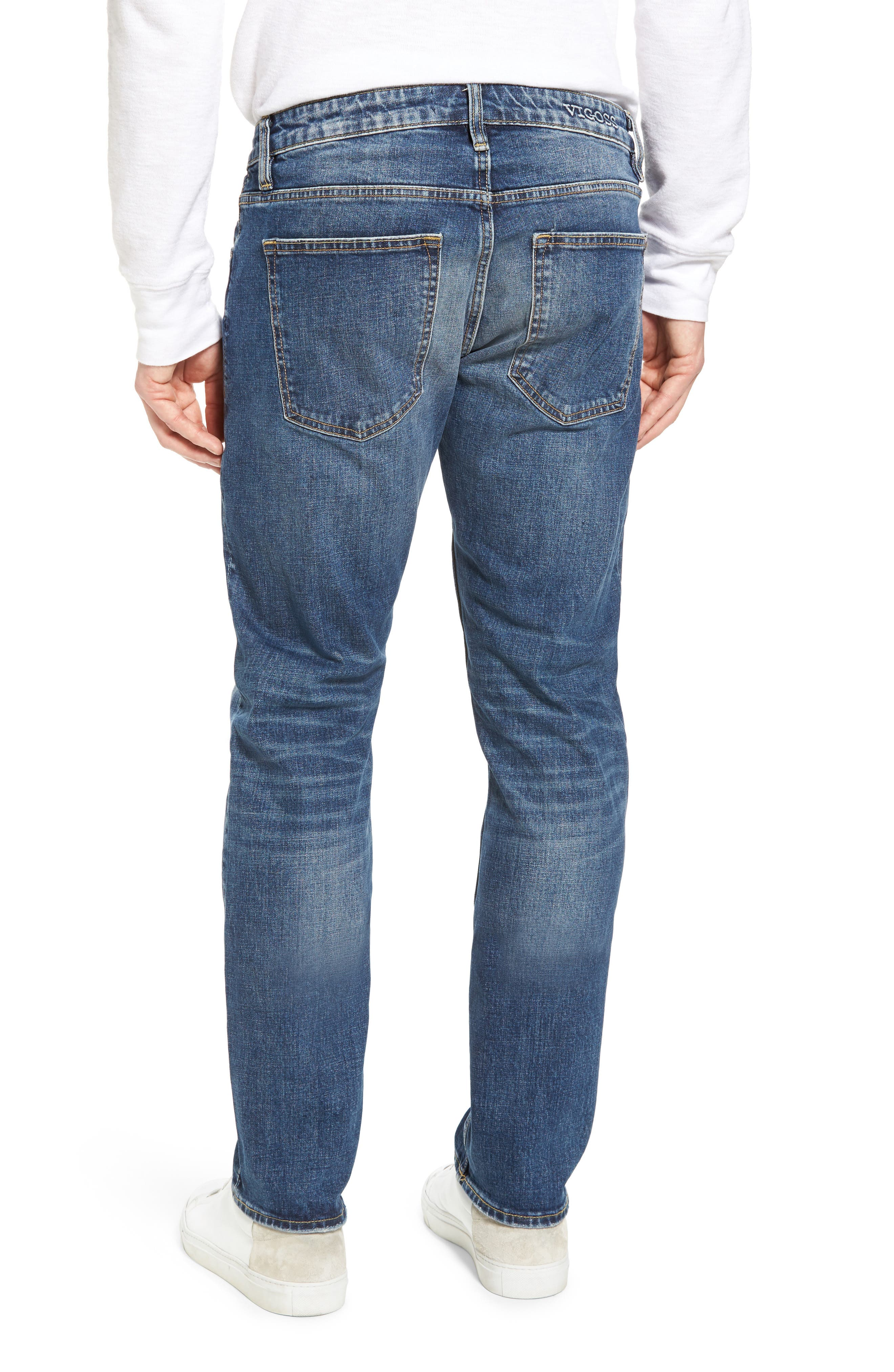 Slim Straight Leg Jeans,                             Alternate thumbnail 2, color,                             400