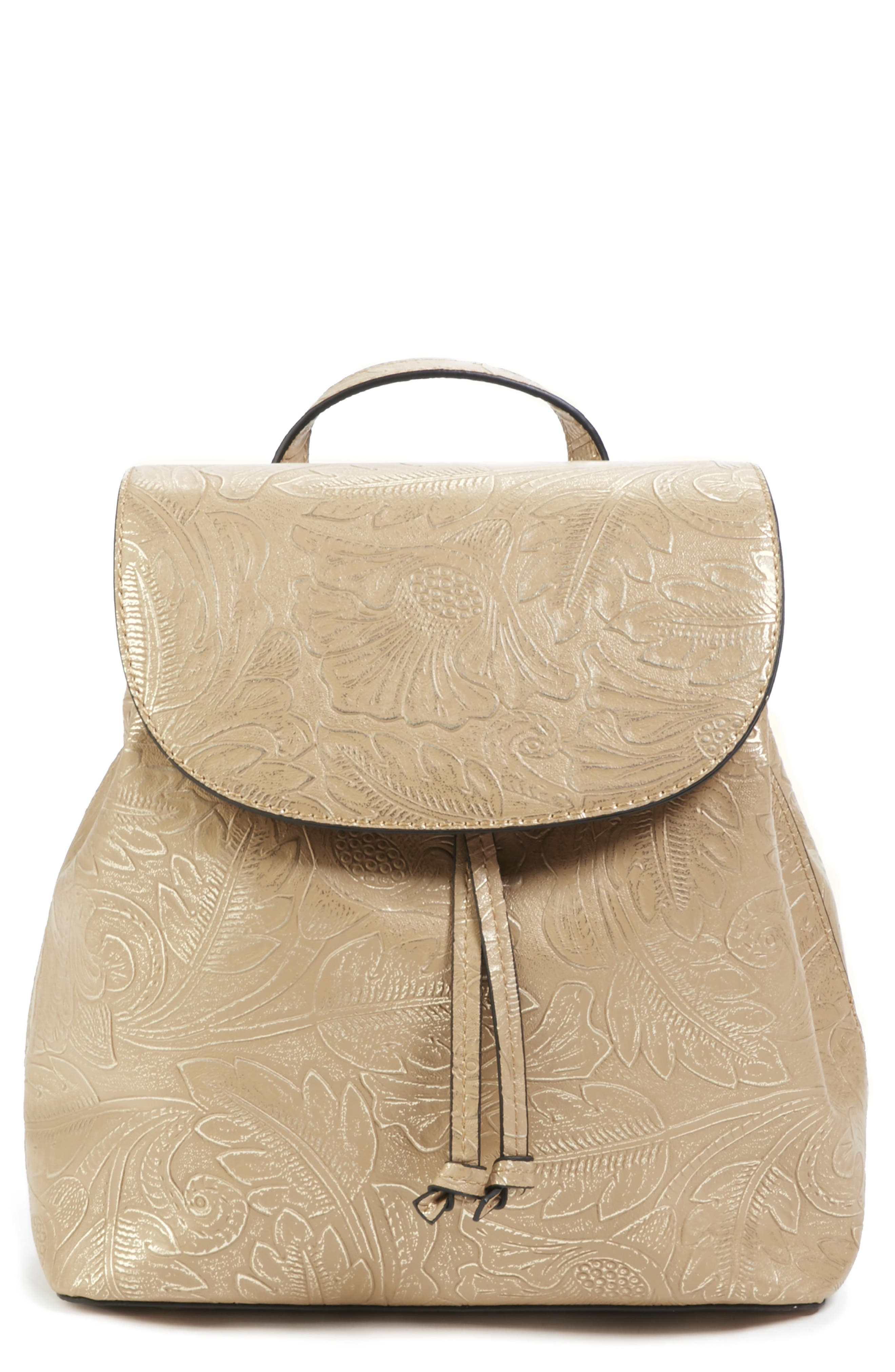 Sole Society Hawna Faux Leather Backpack - Beige