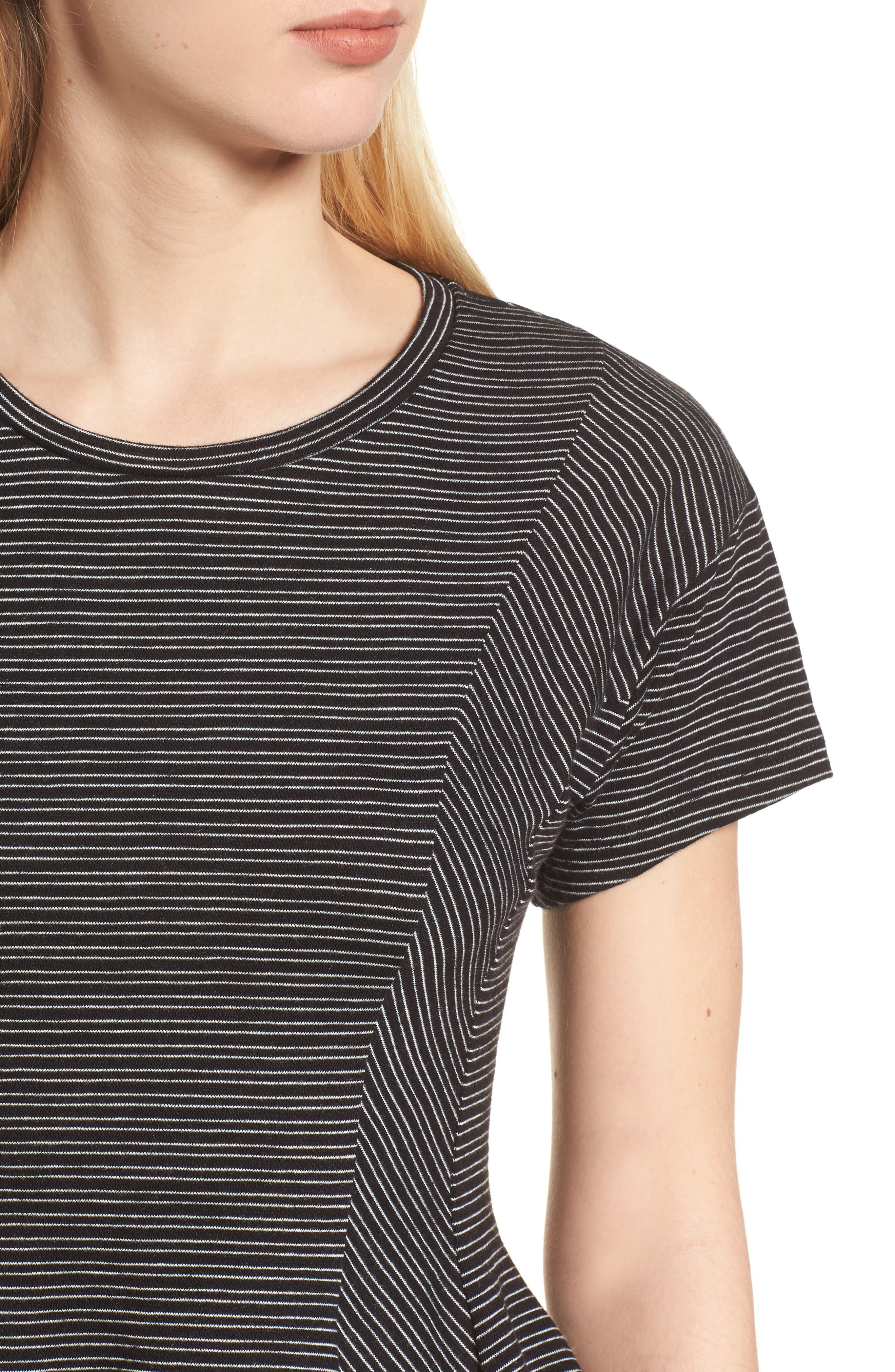 Stripe Peplum Tee,                             Alternate thumbnail 8, color,
