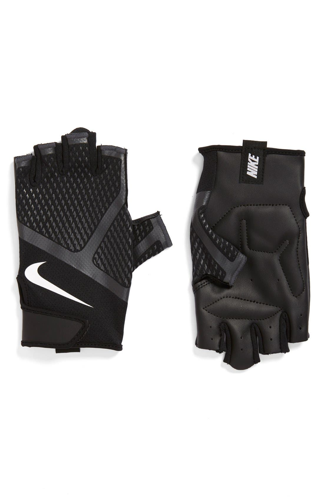 'Renegade' Fingerless Padded Training Gloves,                             Main thumbnail 1, color,                             001