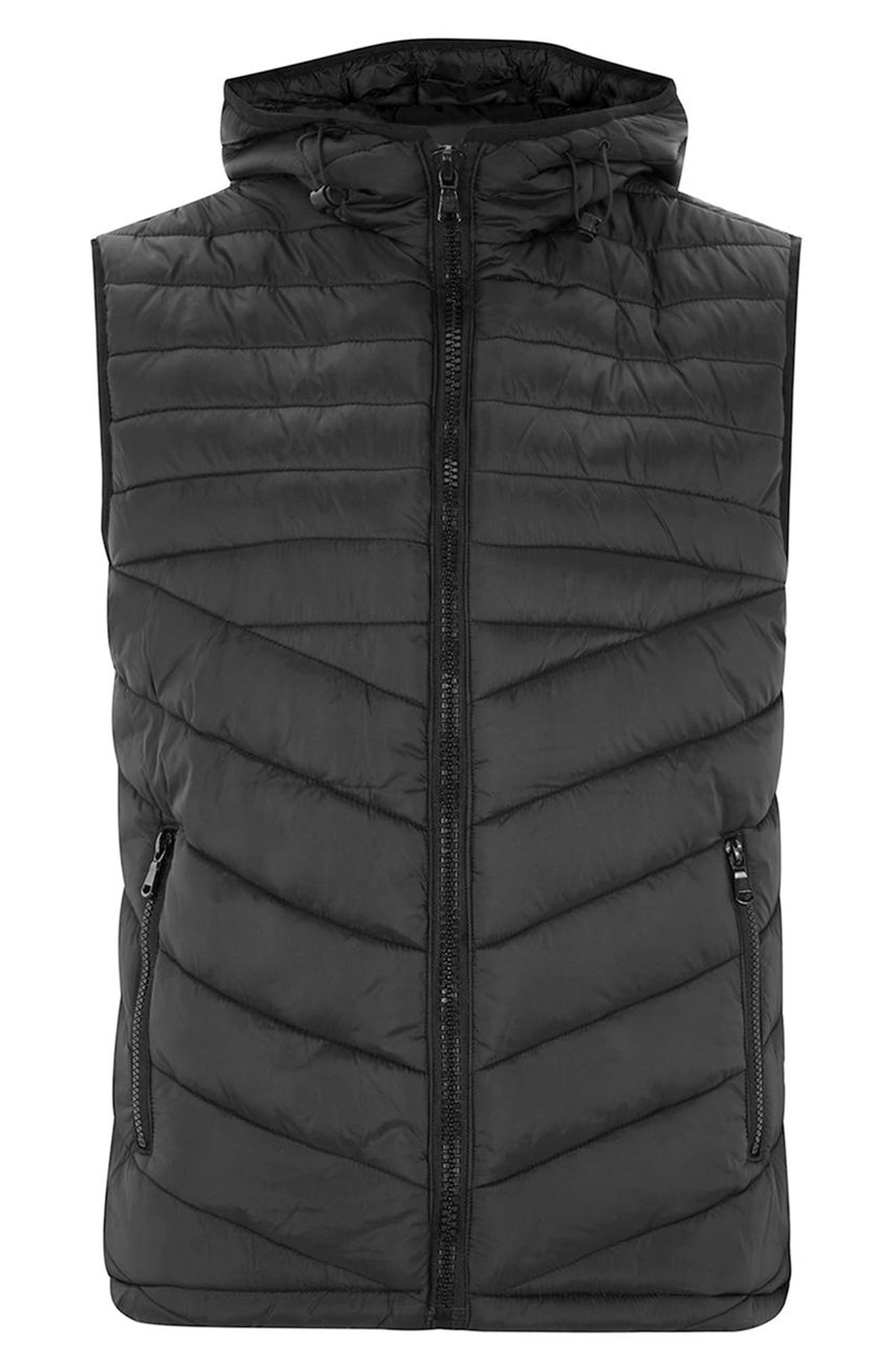 Quilted Puffer Vest,                             Alternate thumbnail 4, color,                             001