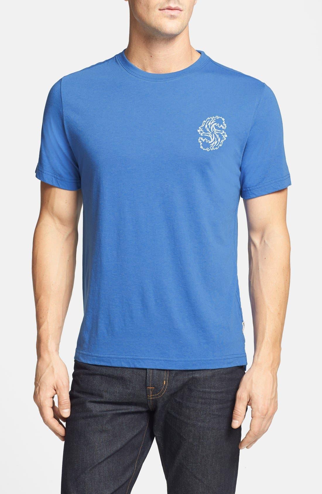 'S-Wave' T-Shirt,                             Main thumbnail 1, color,                             409