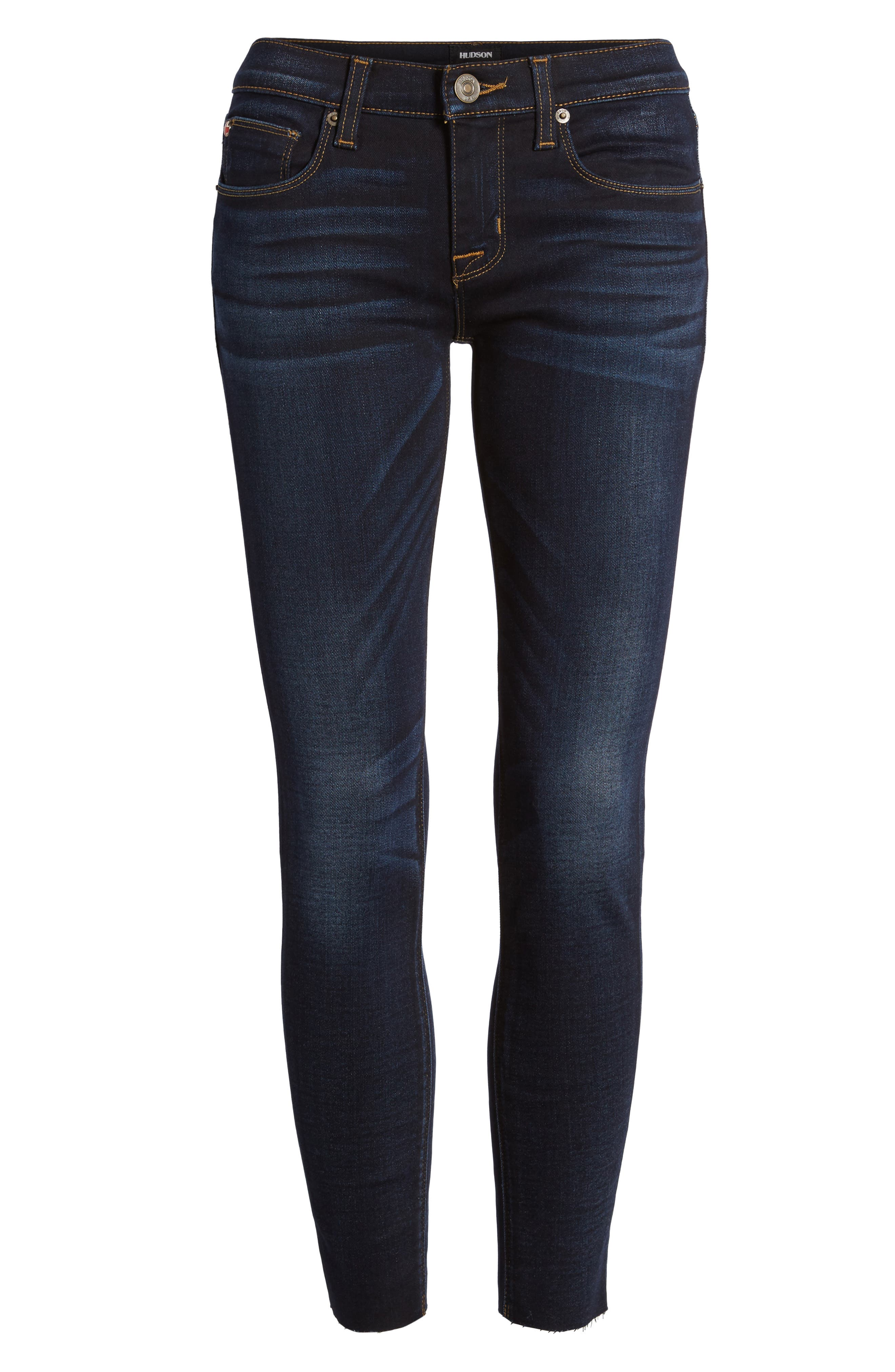 'Krista' Raw Hem Ankle Super Skinny Jeans,                             Alternate thumbnail 6, color,                             402