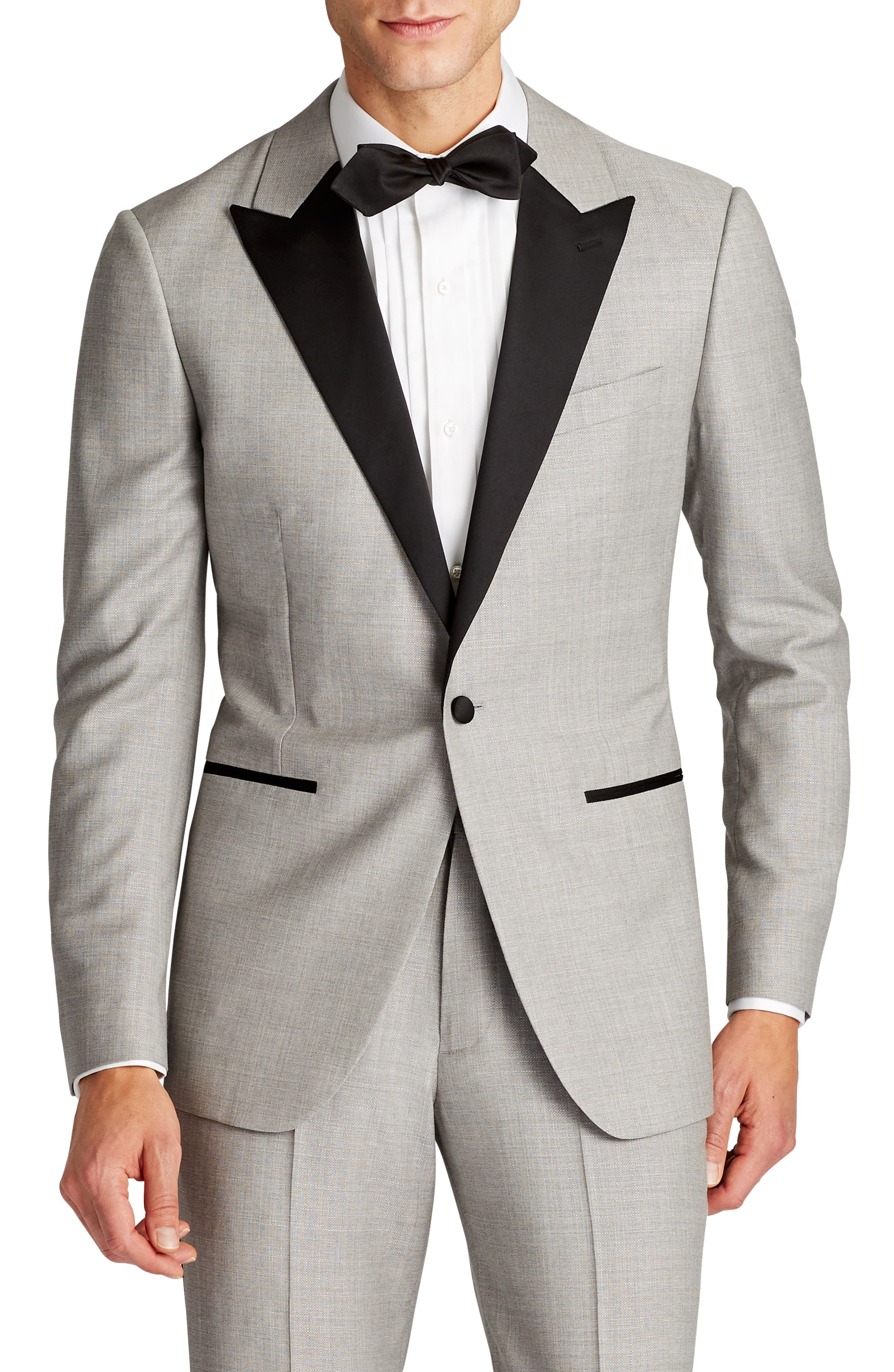 Capstone Slim Fit Wool Dinner Jacket,                         Main,                         color, 020