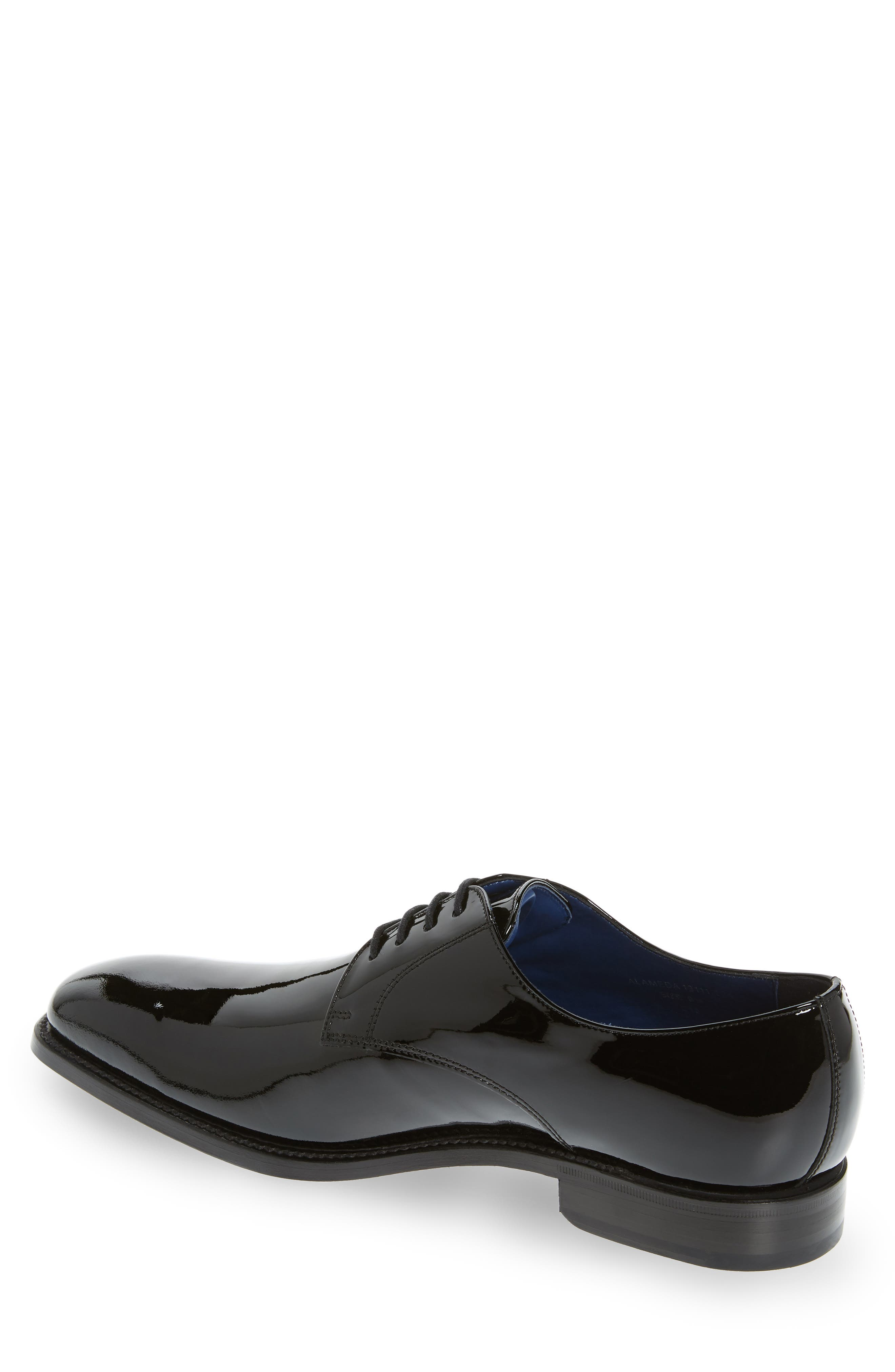 Alameda Plain Toe Derby,                             Alternate thumbnail 2, color,                             BLACK PATENT LEATHER