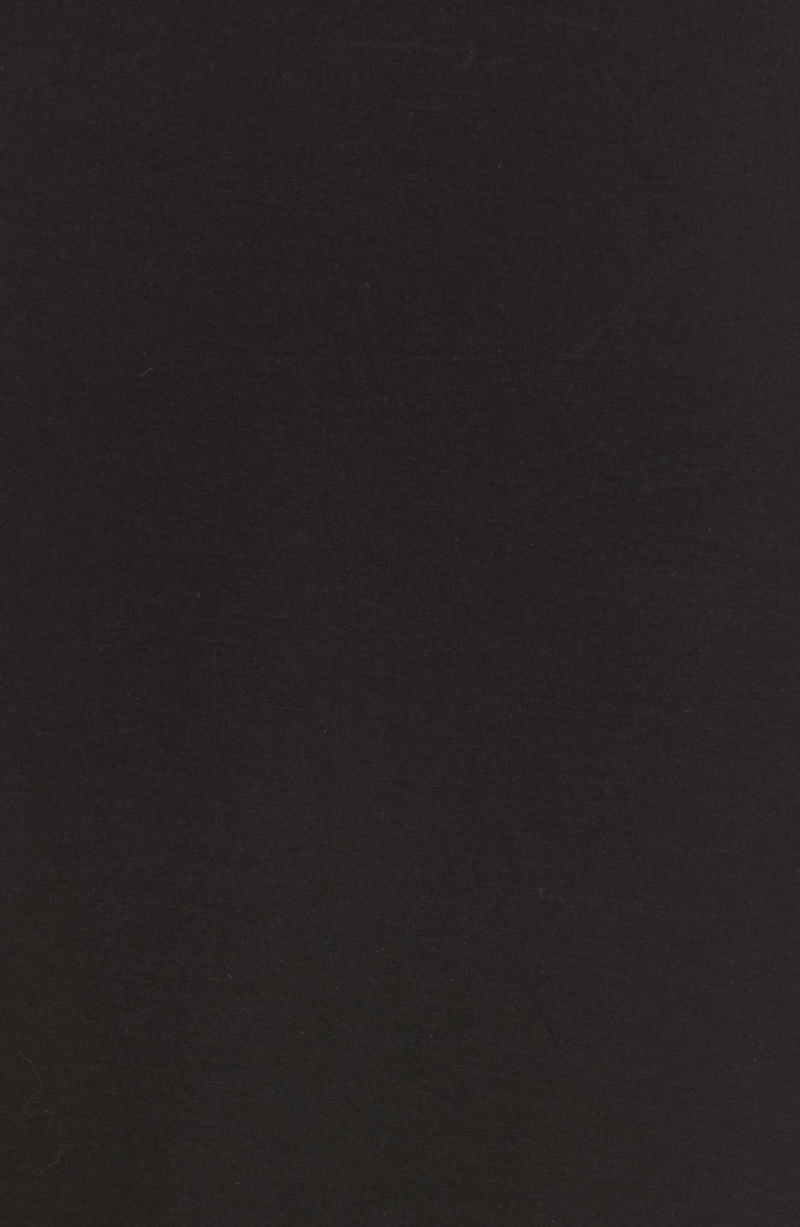 VINCE,                             Essential Crewneck Top,                             Alternate thumbnail 5, color,                             BLACK