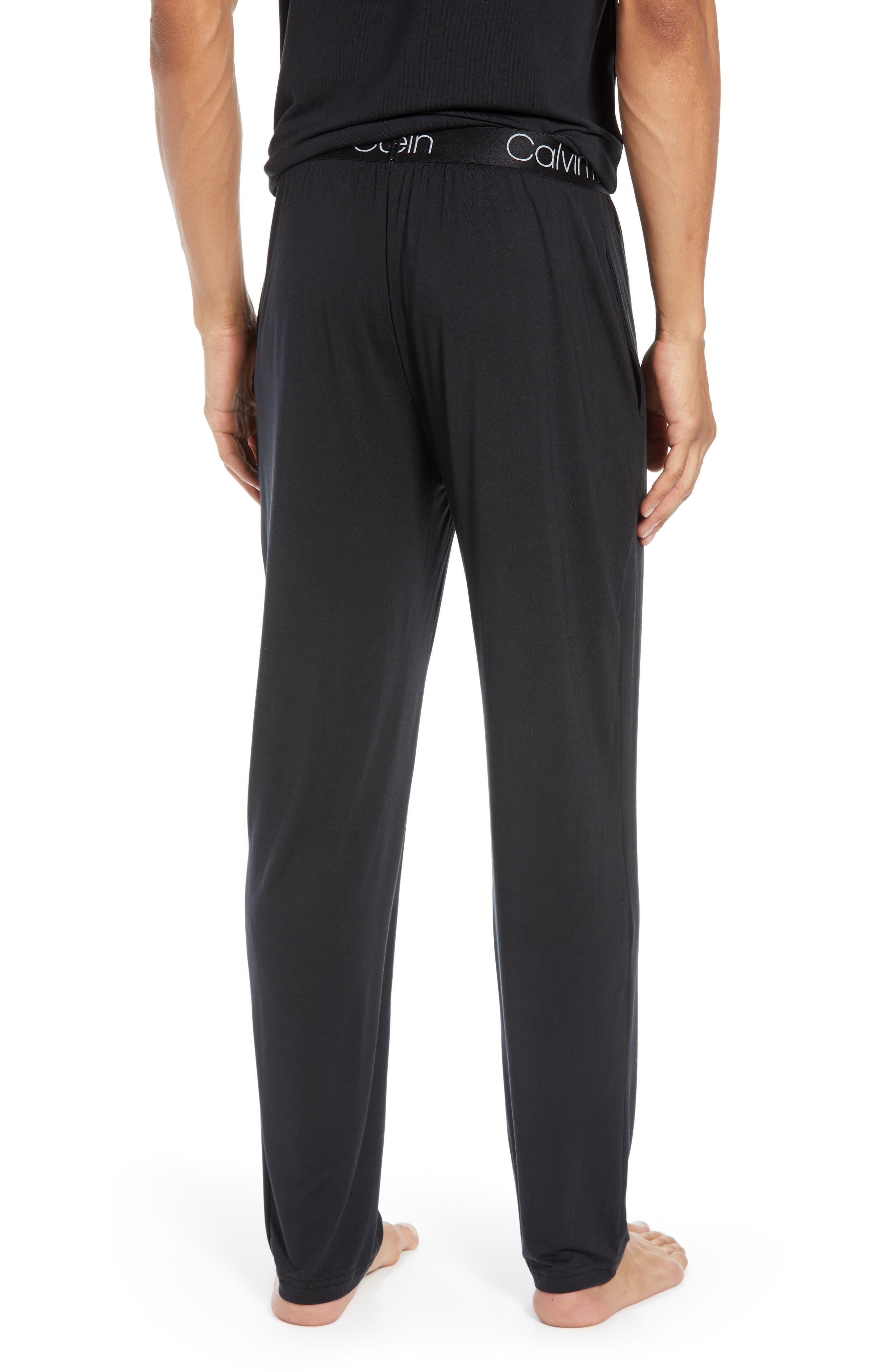 CALVIN KLEIN,                             Stretch Modal Lounge Pants,                             Alternate thumbnail 2, color,                             BLACK