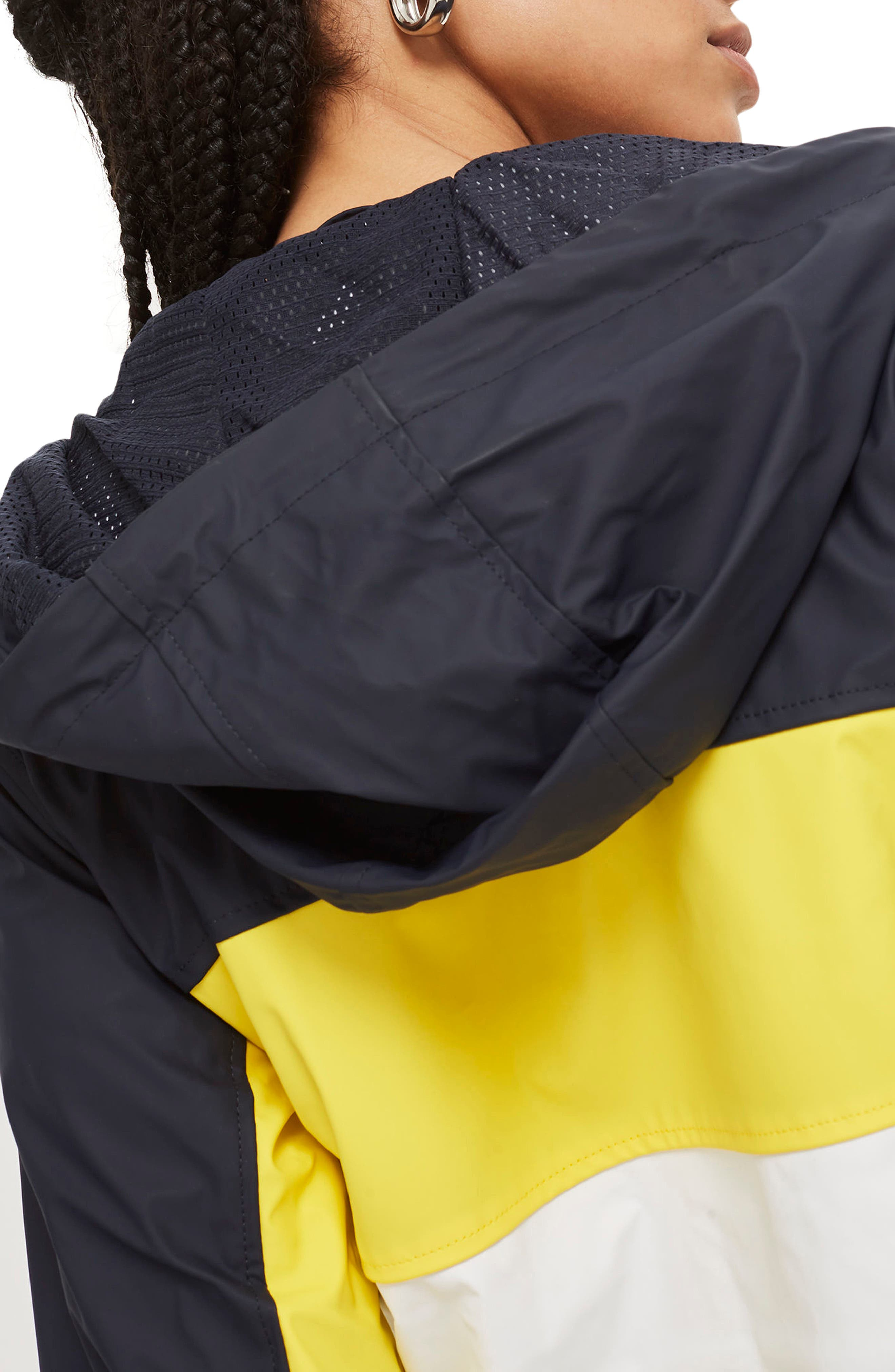 Colorblock Rain Mac Jacket,                             Alternate thumbnail 2, color,                             411