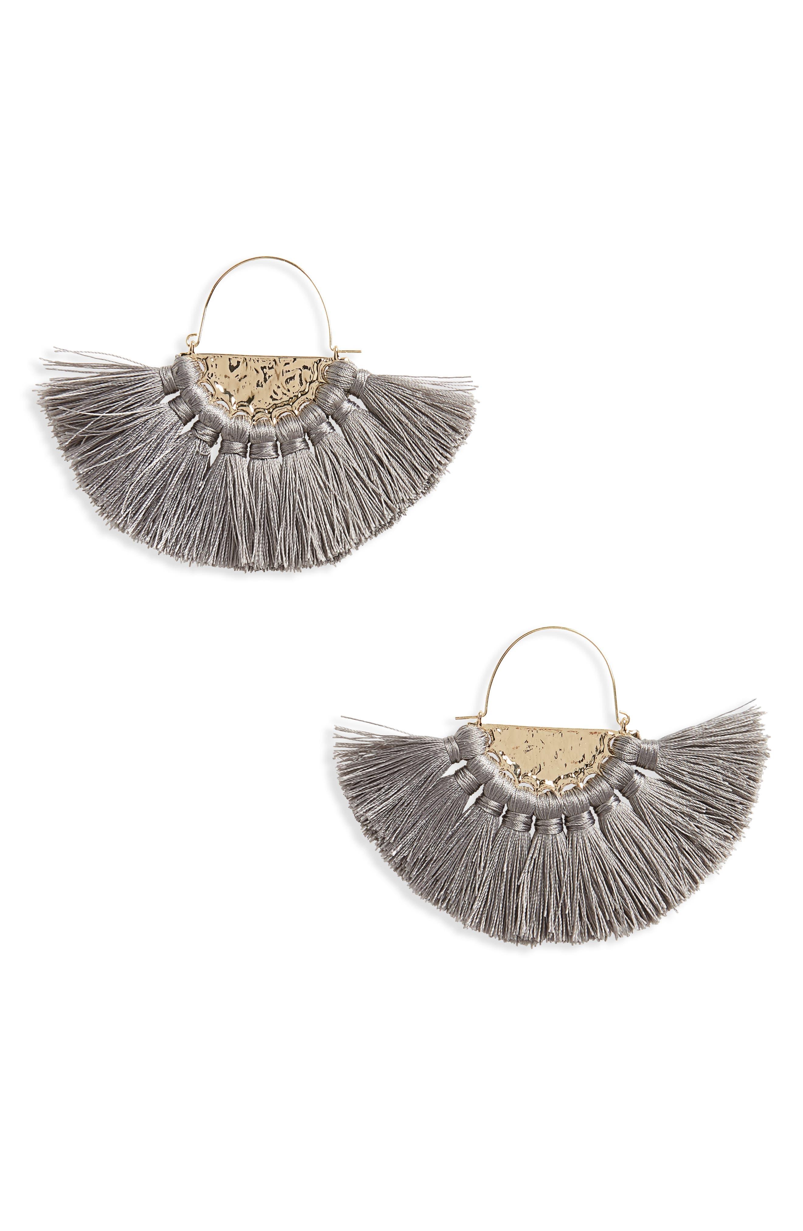 Oversize Fan Earrings,                         Main,                         color, 020