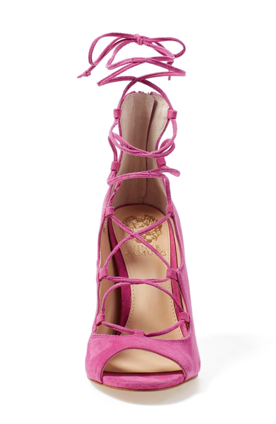 'Sandria' Peep Toe Ghillie Sandal,                             Alternate thumbnail 23, color,