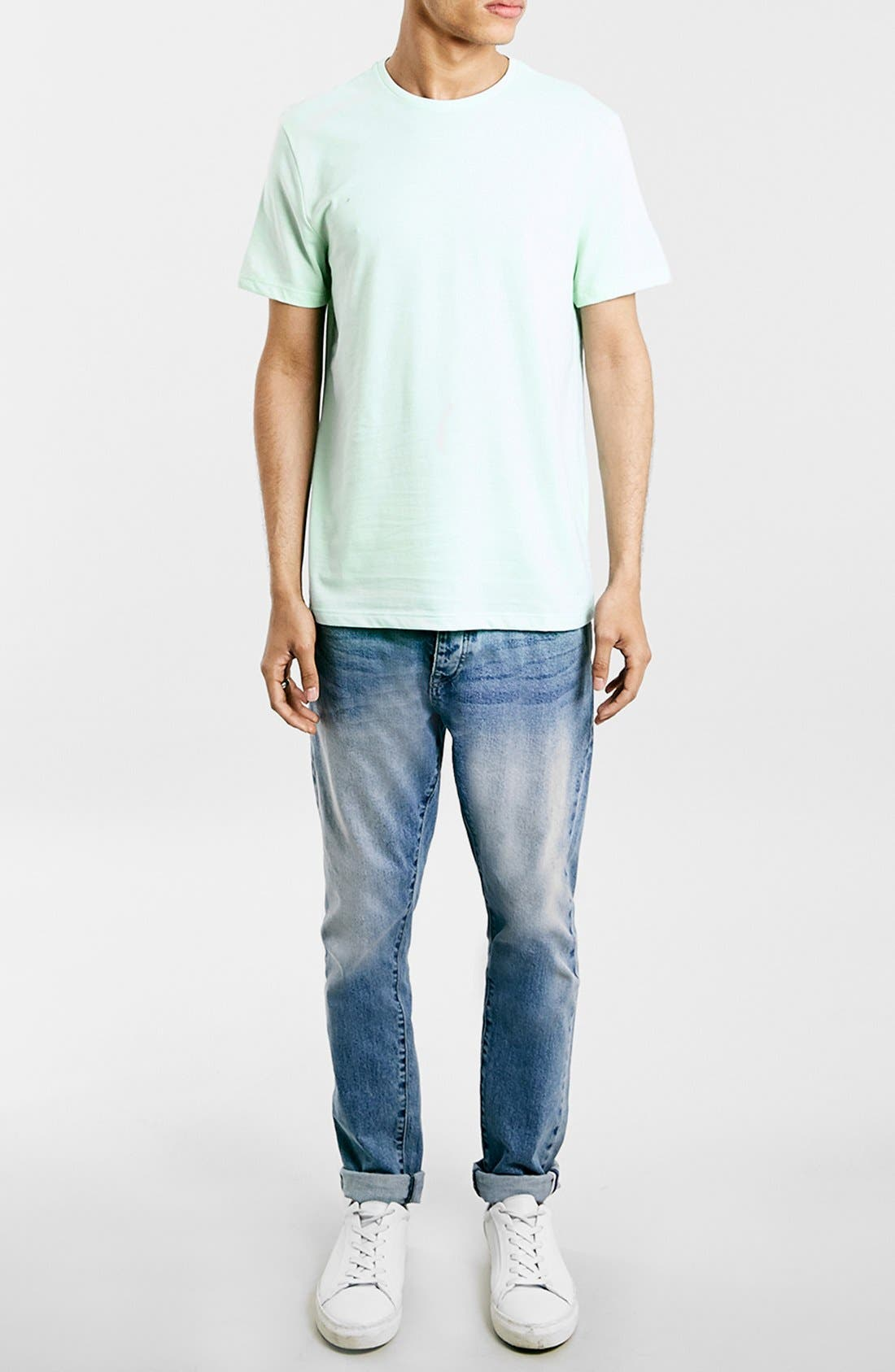 Slim Fit Crewneck T-Shirt,                             Alternate thumbnail 148, color,