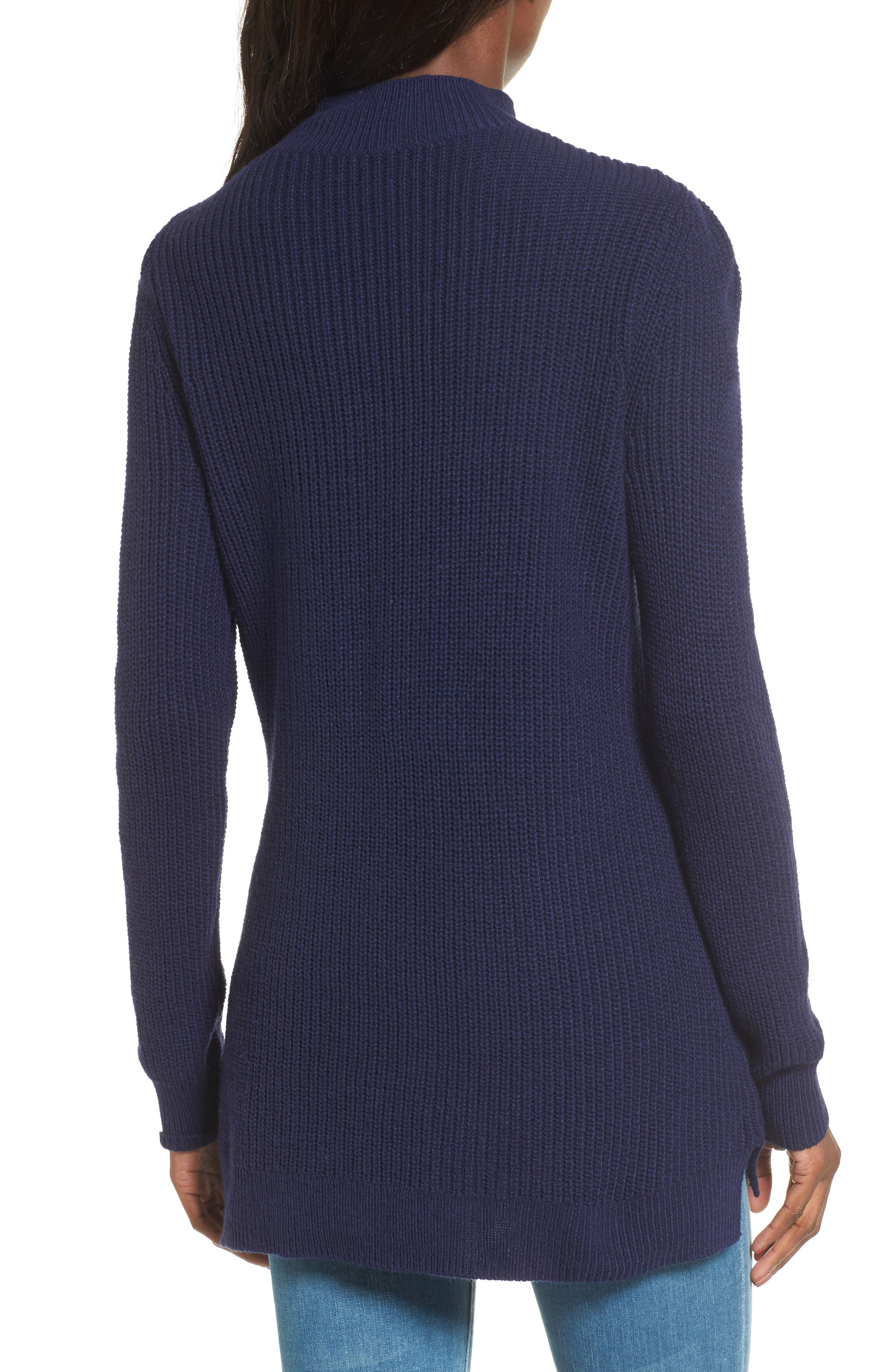 Mock Neck Tunic Sweater,                             Alternate thumbnail 13, color,
