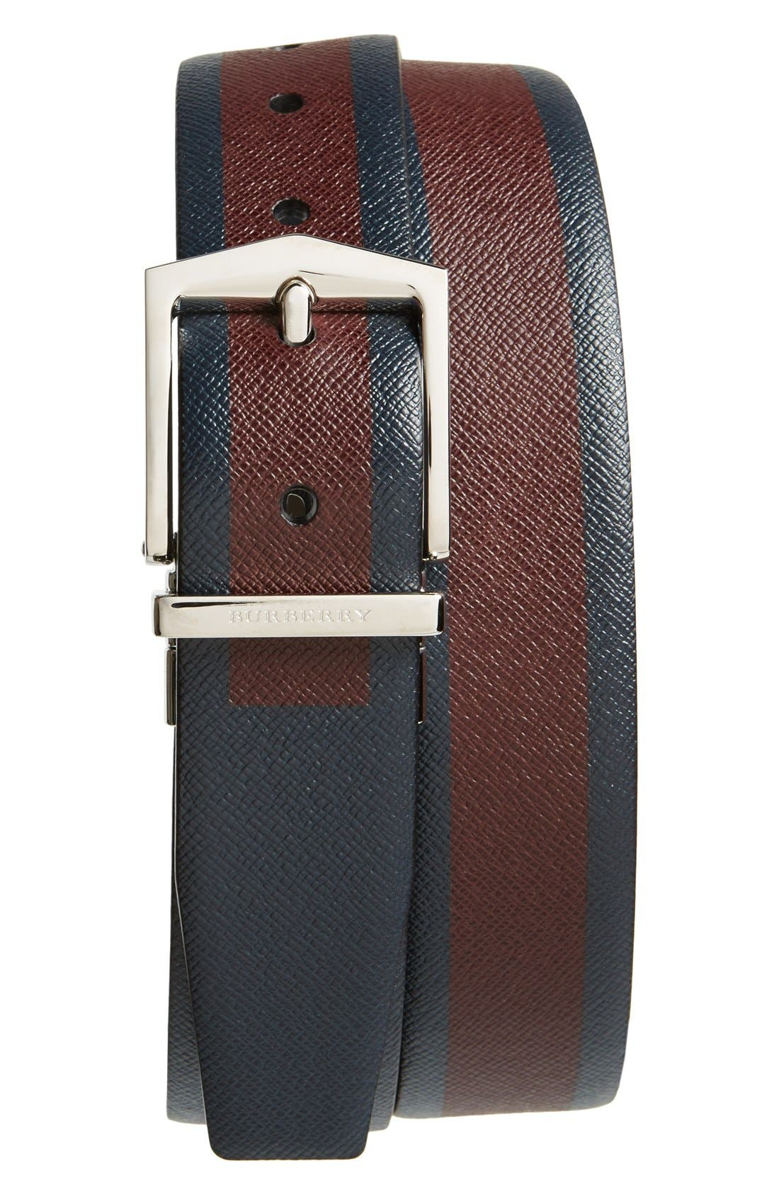 'James' Reversible Leather Belt, Main, color, 930