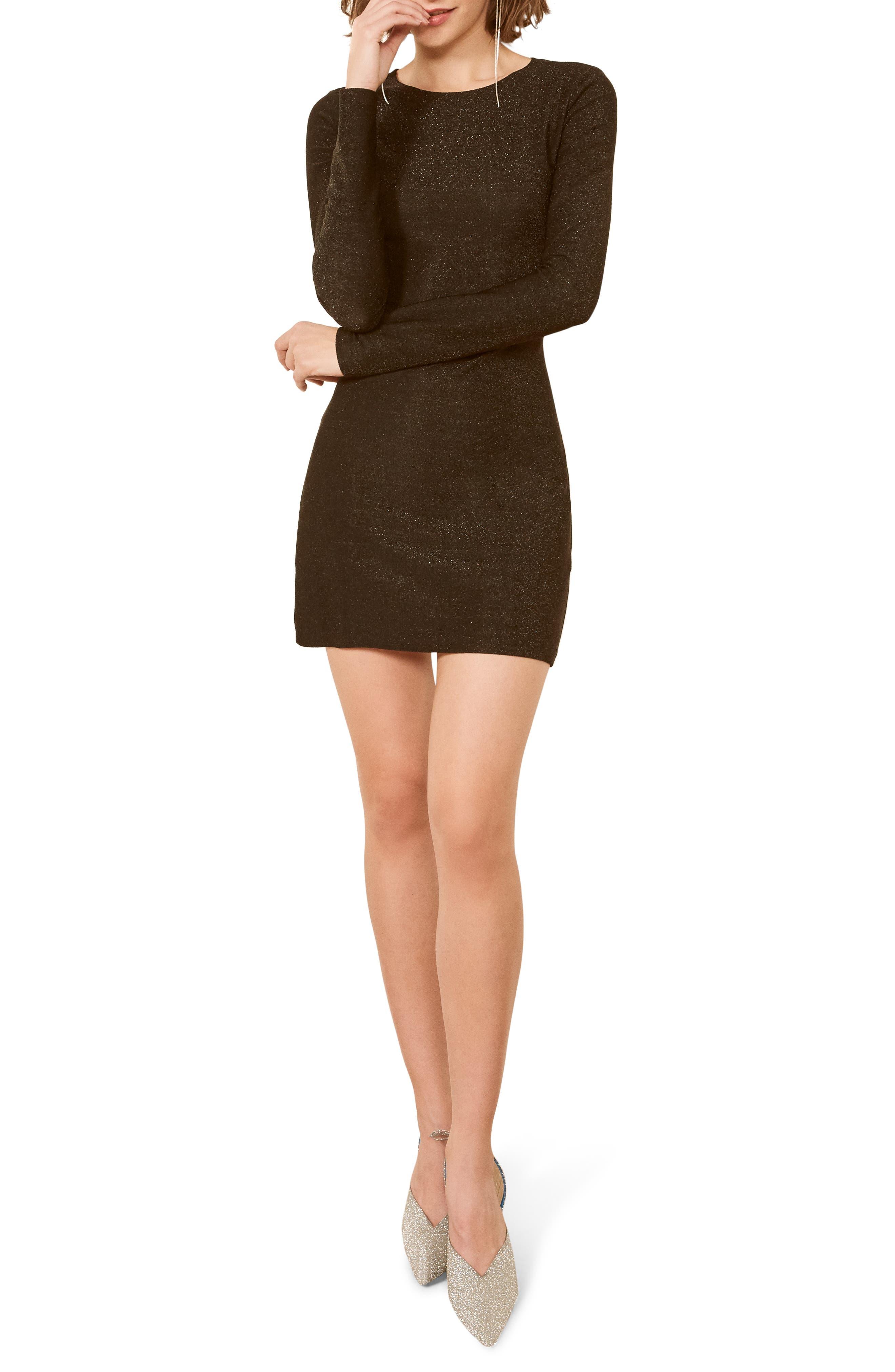 Radford Minidress,                             Main thumbnail 1, color,                             BLACK