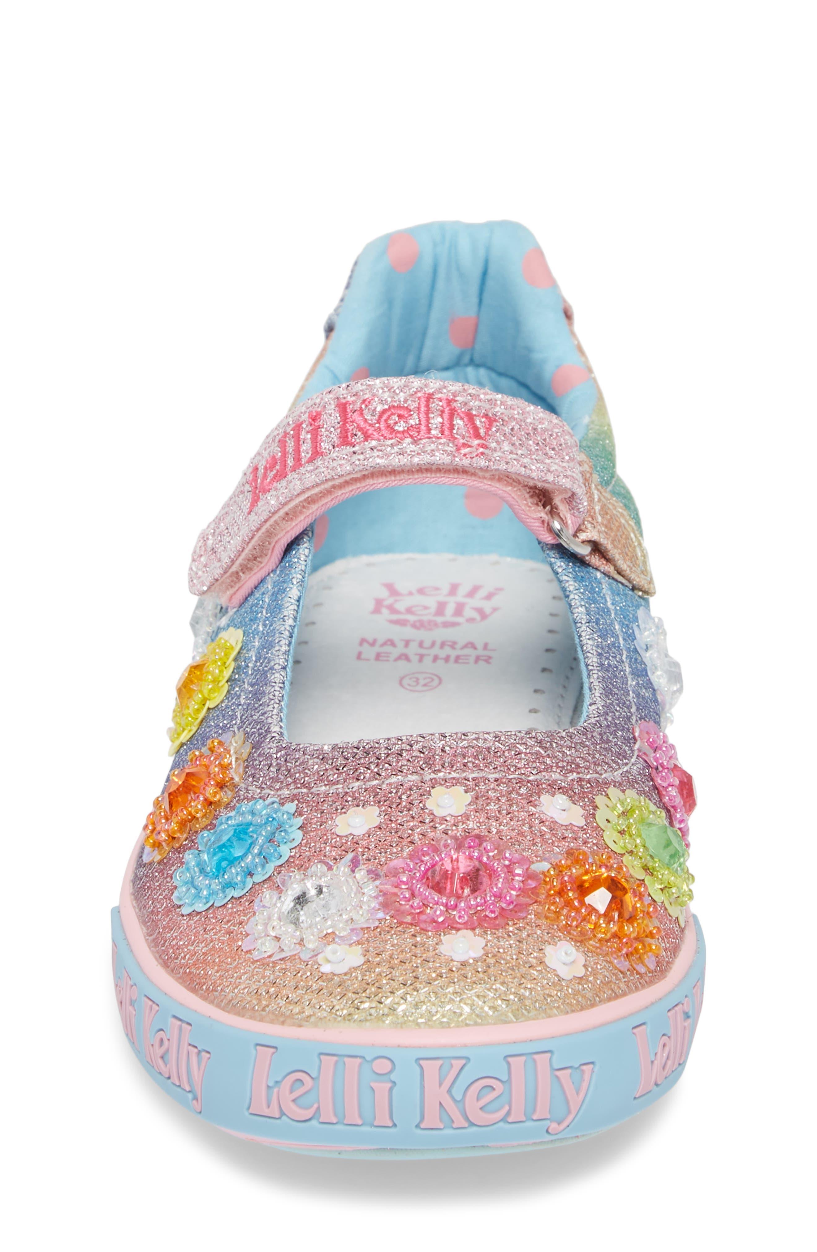 LELLI KELLY,                             Beaded Mary Jane Sneaker,                             Alternate thumbnail 4, color,                             BLUE