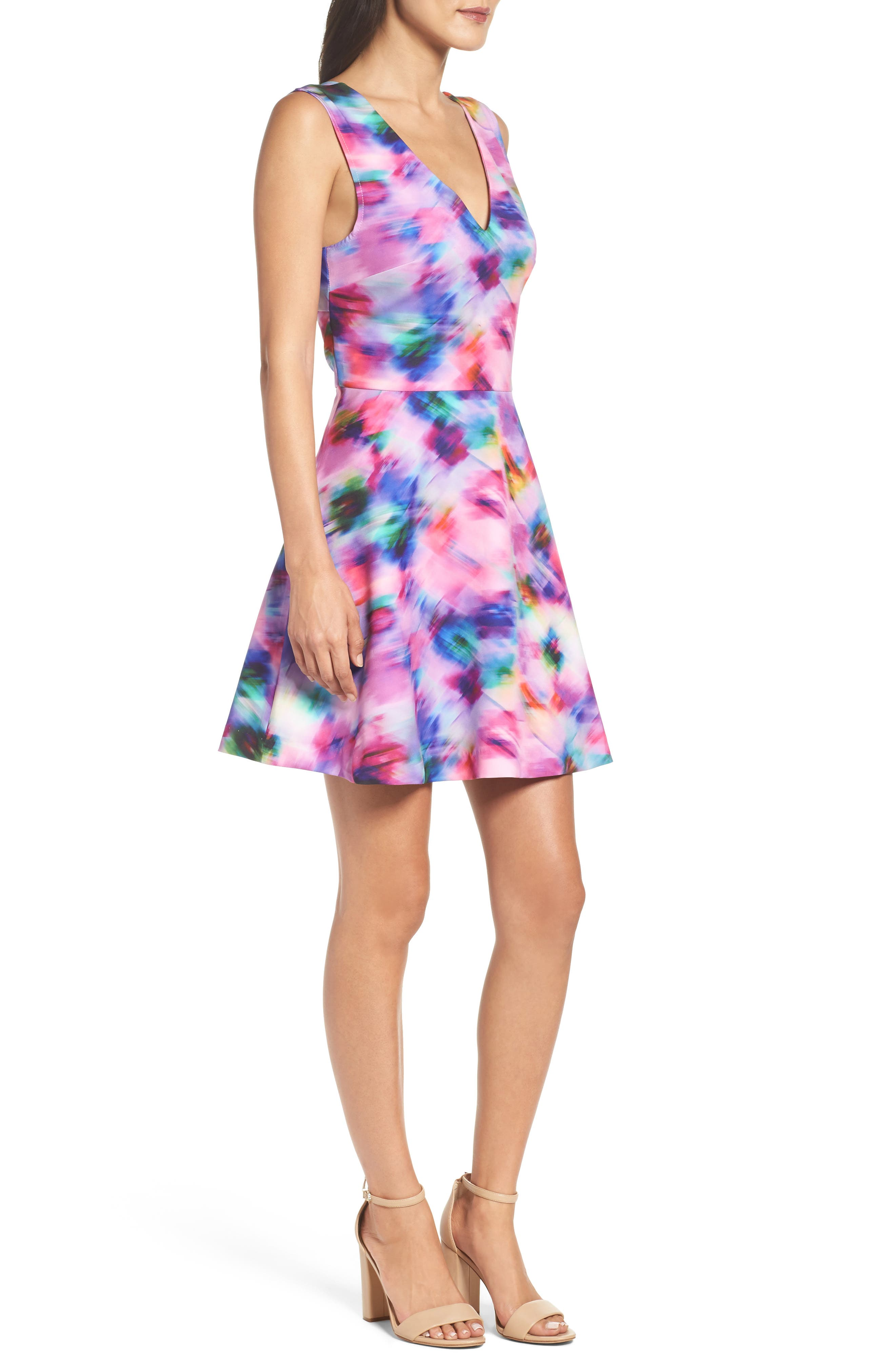 Bianca Back Cutout Fit & Flare Dress,                             Alternate thumbnail 38, color,