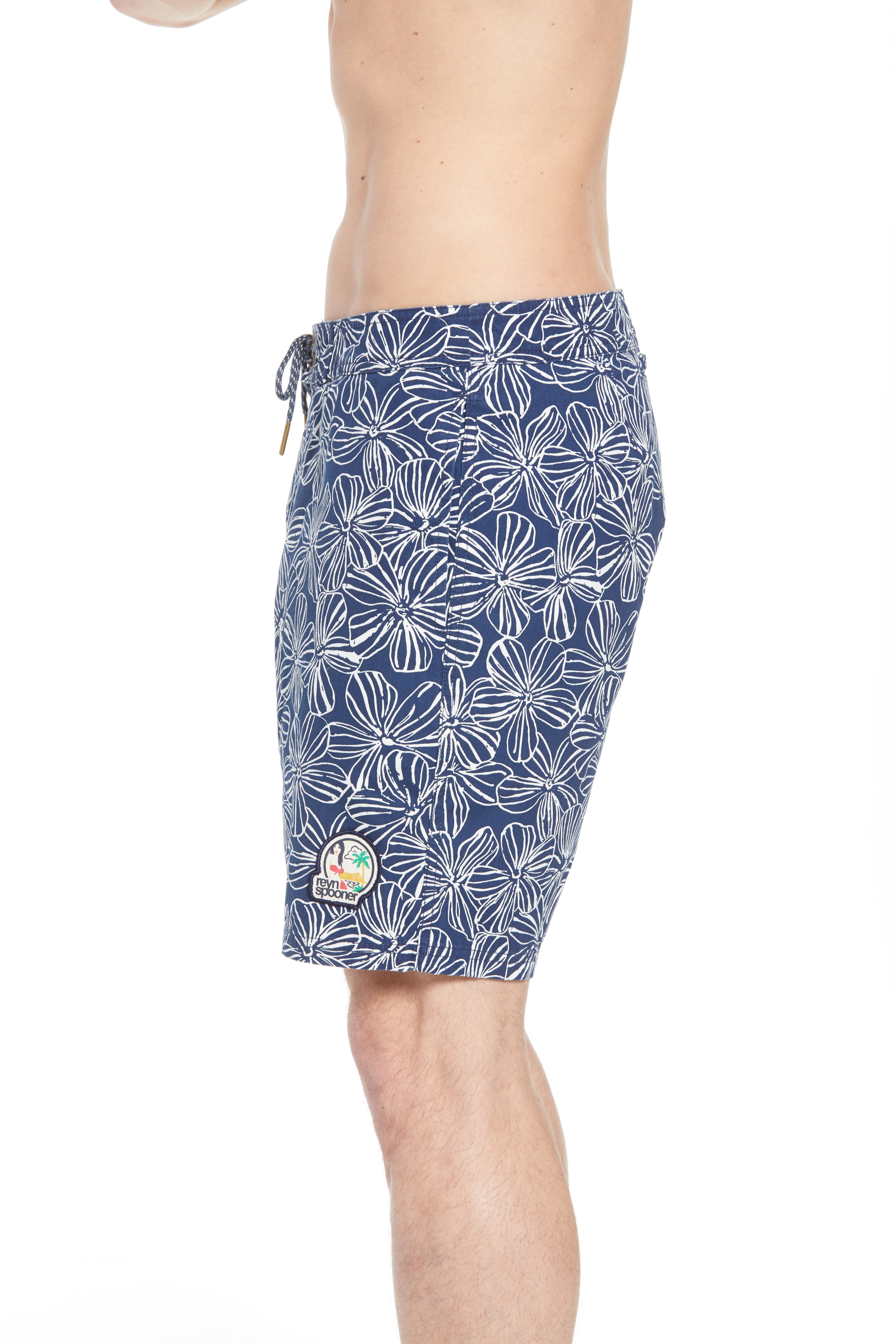 Mala Melia Regular Fit Board Shorts,                             Alternate thumbnail 3, color,                             BLUE