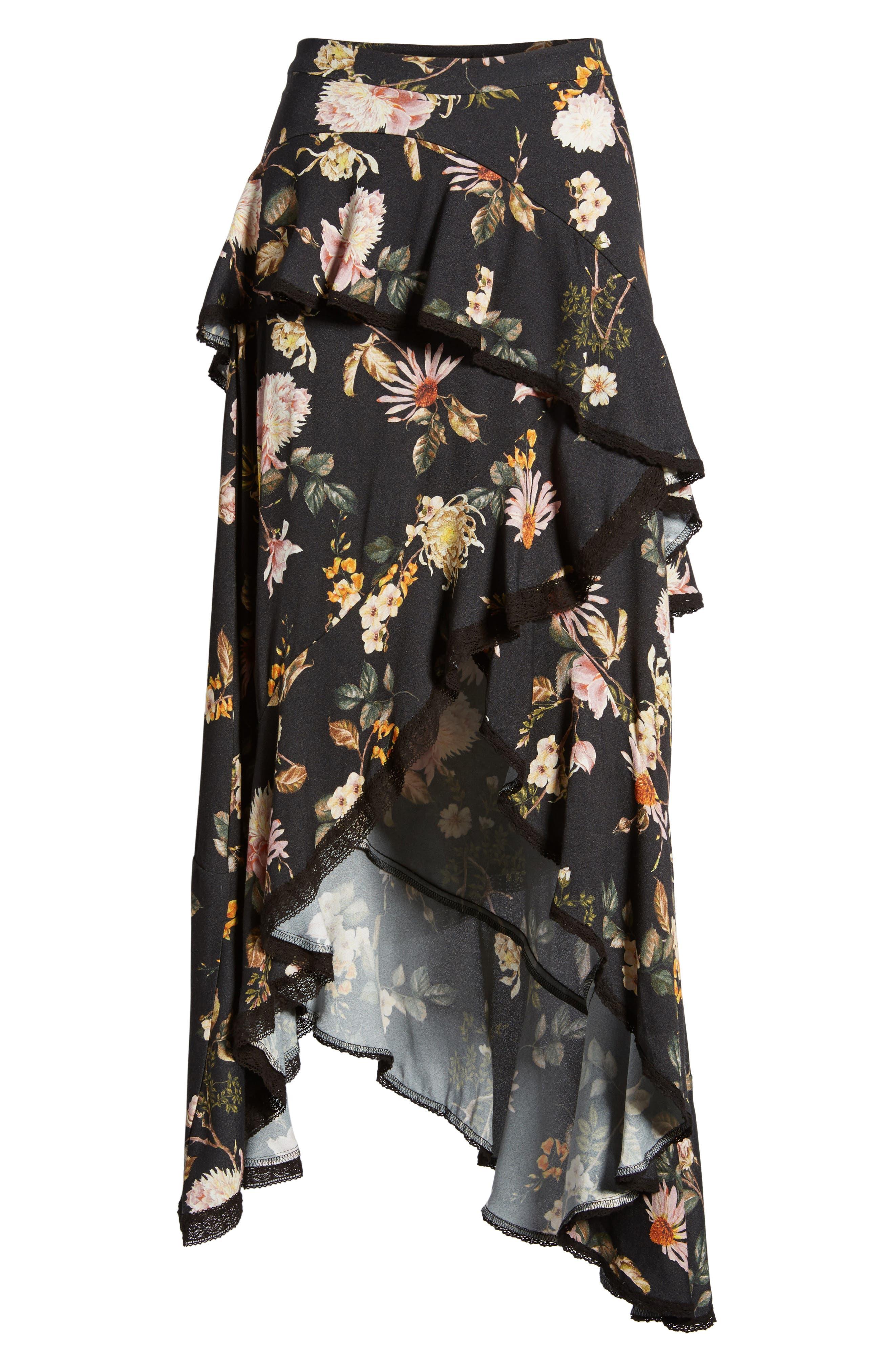 Grace Asymmetrical Ruffle Skirt,                             Alternate thumbnail 12, color,