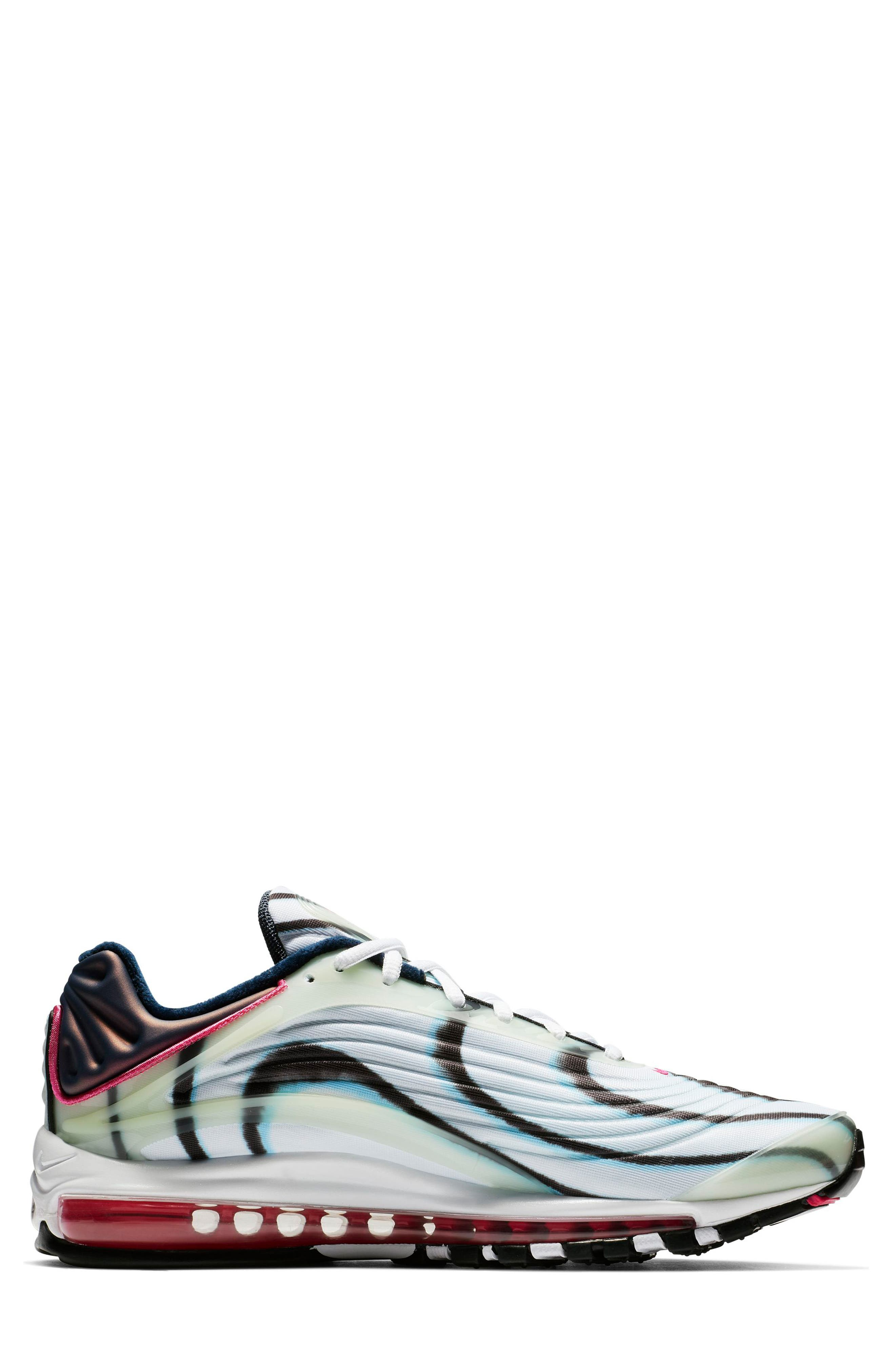 Air Max Deluxe Sneaker,                             Alternate thumbnail 8, color,                             GREEN/ SILVER/ OBSIDIAN/ BLACK
