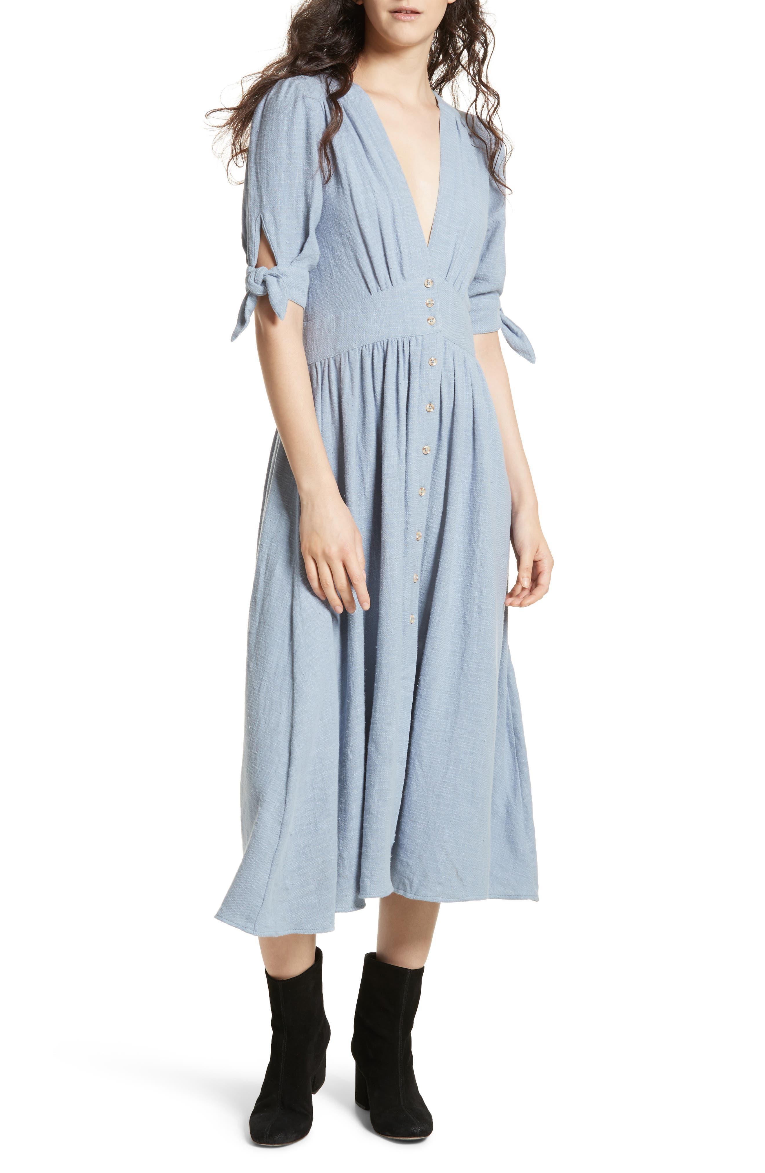 Love of My Life Midi Dress,                             Main thumbnail 1, color,                             BLUE