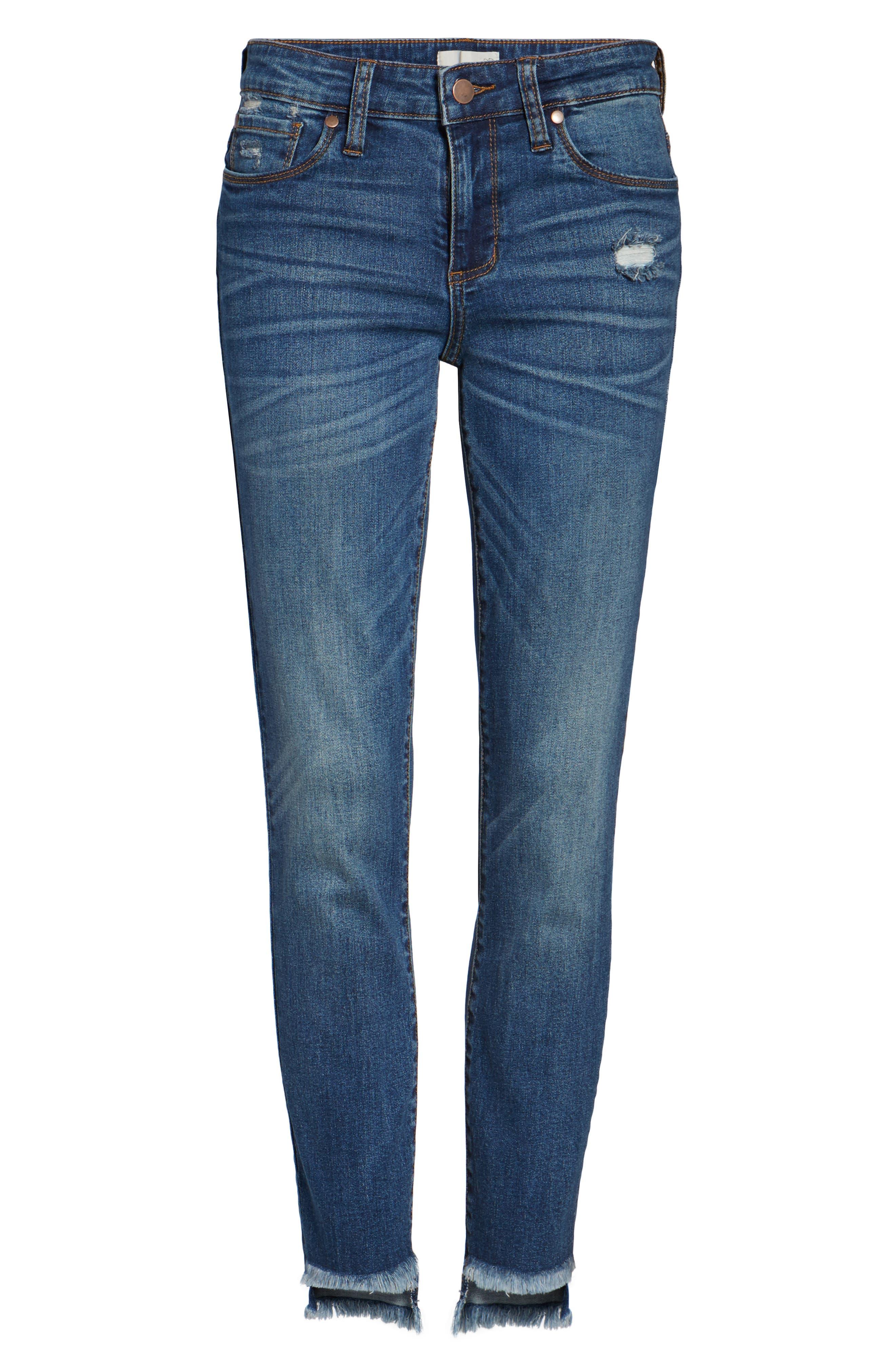 Step Hem Skinny Jeans,                             Alternate thumbnail 6, color,                             400