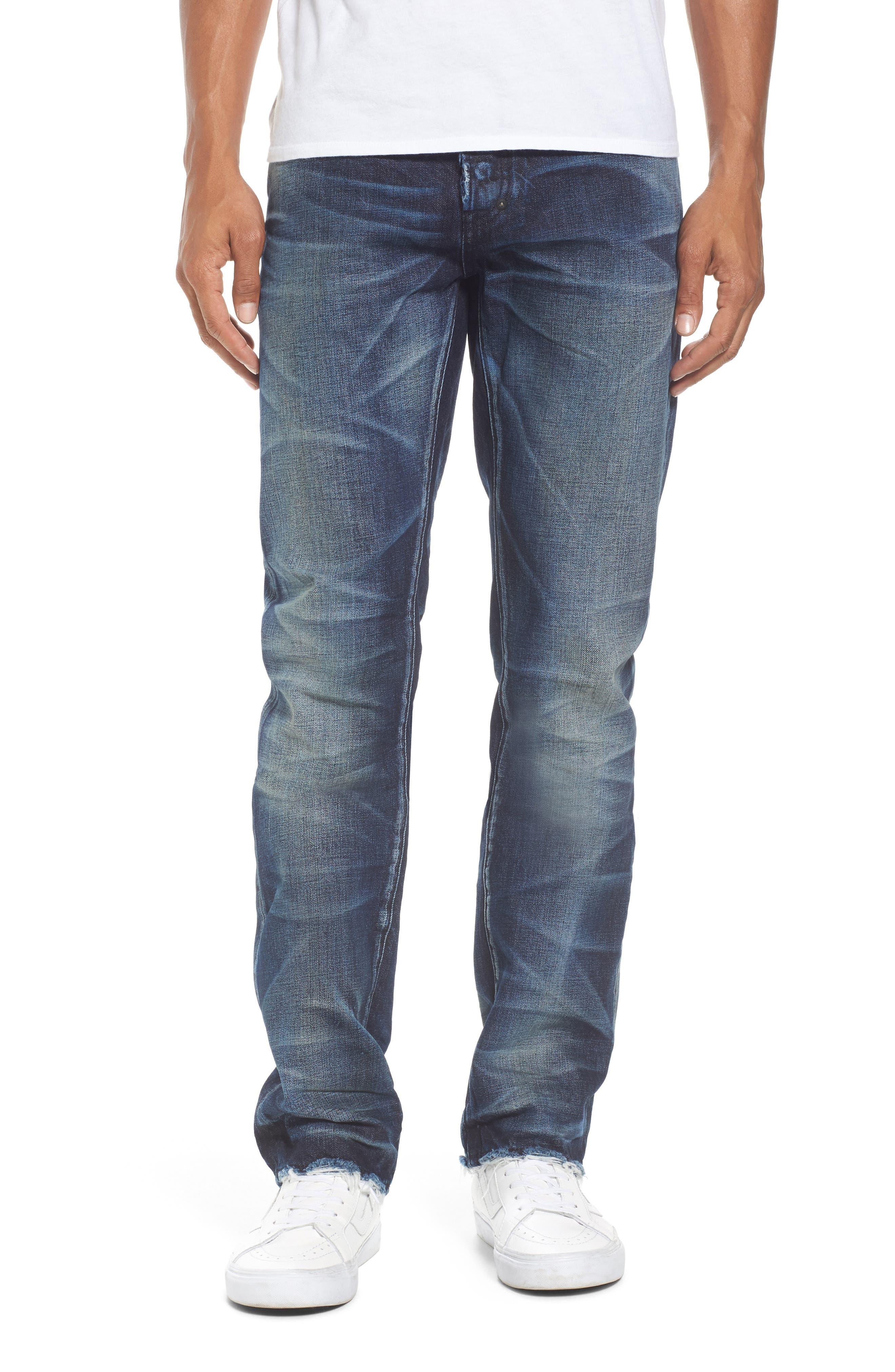 Demon Slim Straight Jeans,                             Main thumbnail 1, color,                             INDIGO