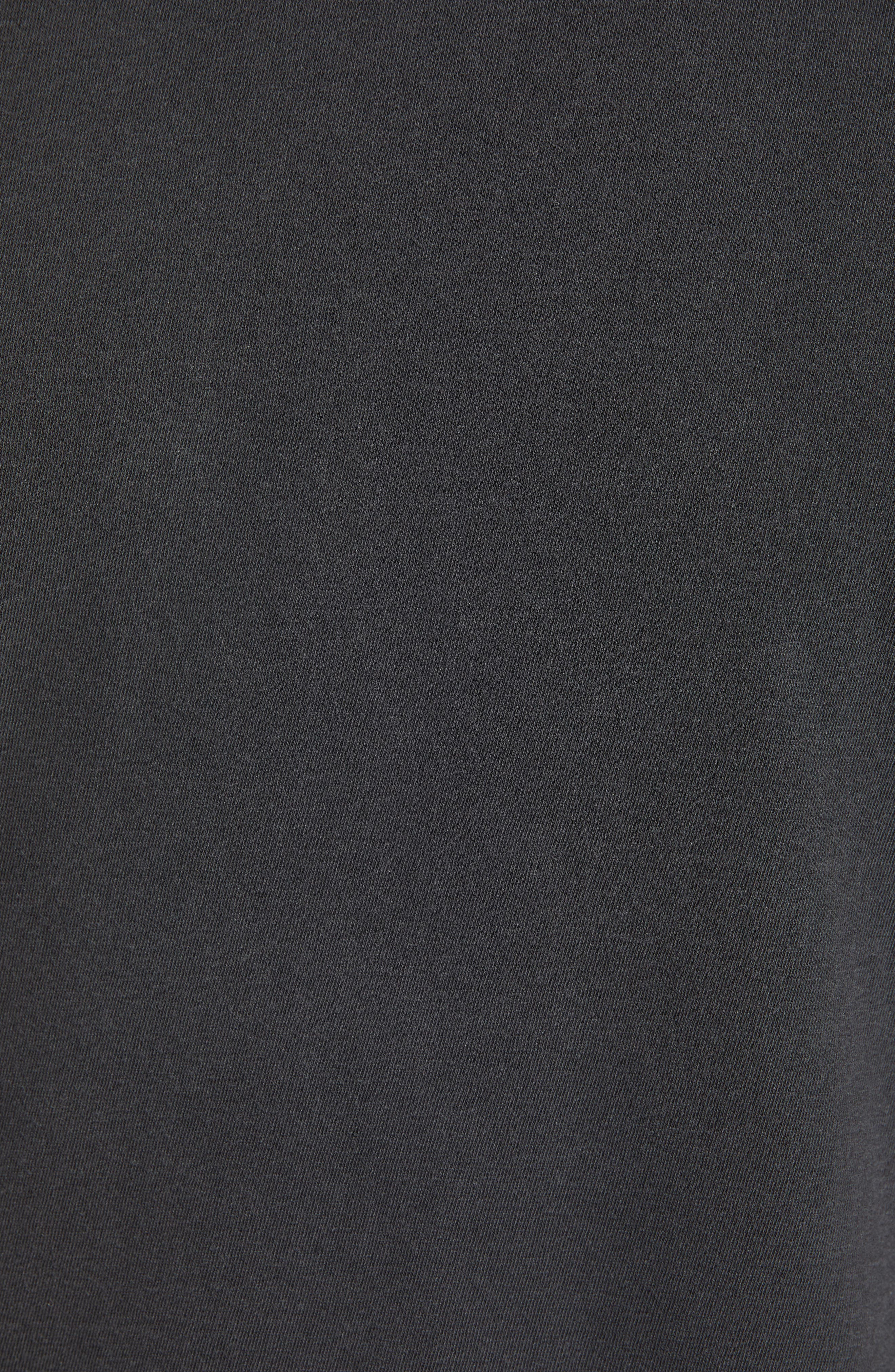 Regular Fit Tonal Palms Crewneck Shirt,                             Alternate thumbnail 5, color,                             CARBON PIGMENT