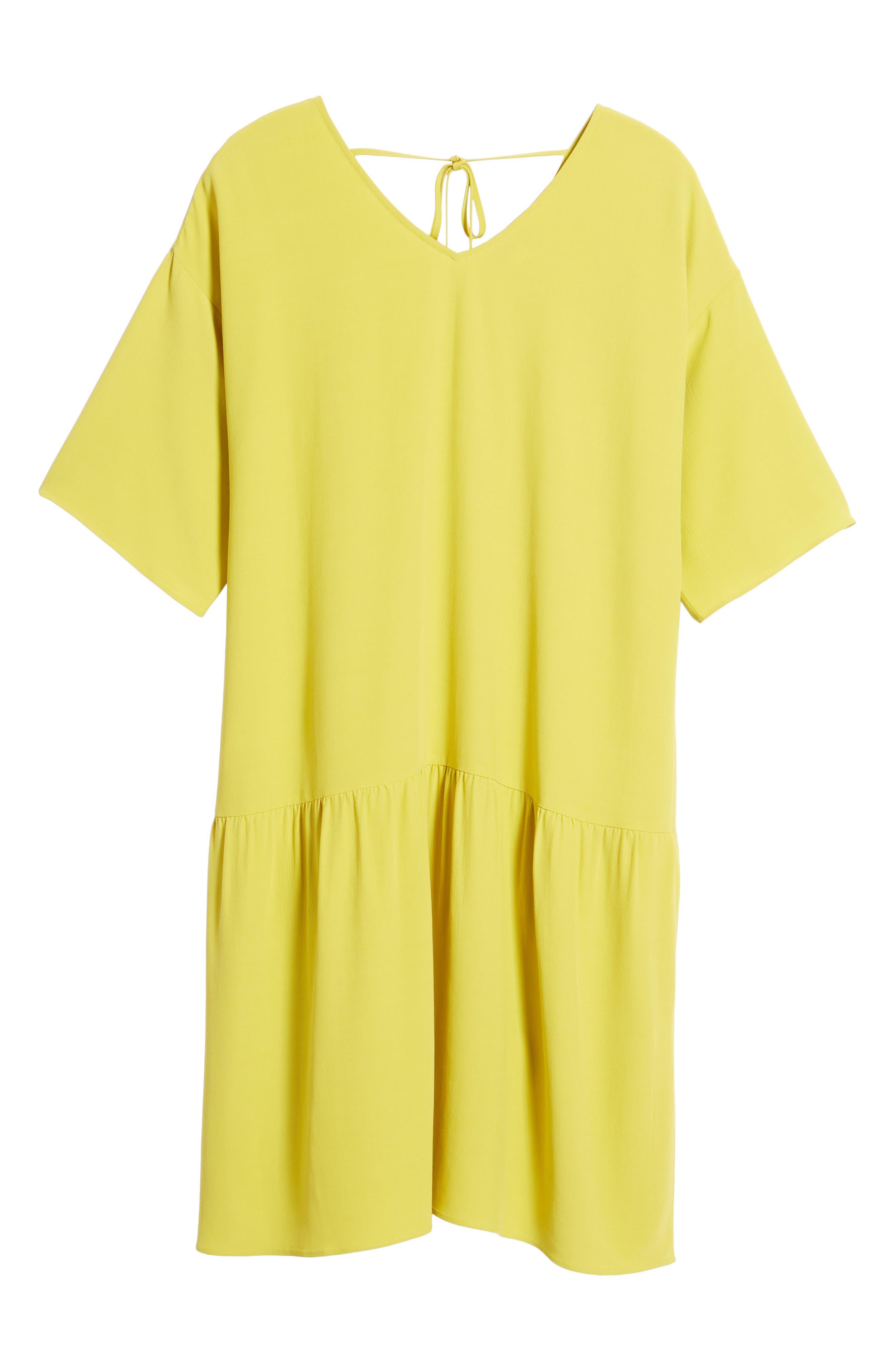 Drop Waist Tencel<sup>®</sup> Lyocell Blend Dress,                             Alternate thumbnail 25, color,