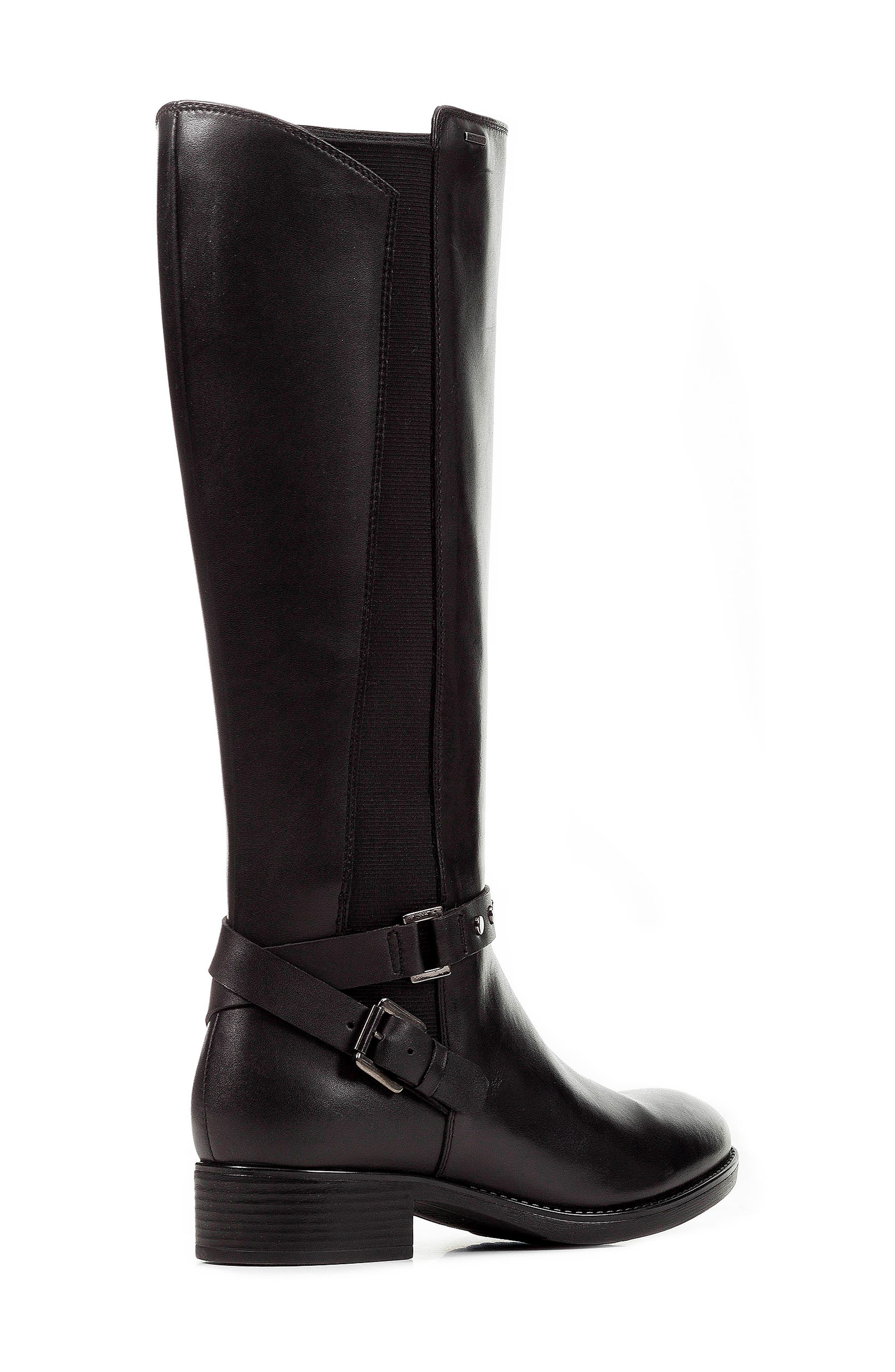 Felicity ABX Waterproof Knee High Riding Boot,                             Alternate thumbnail 7, color,                             BLACK LEATHER