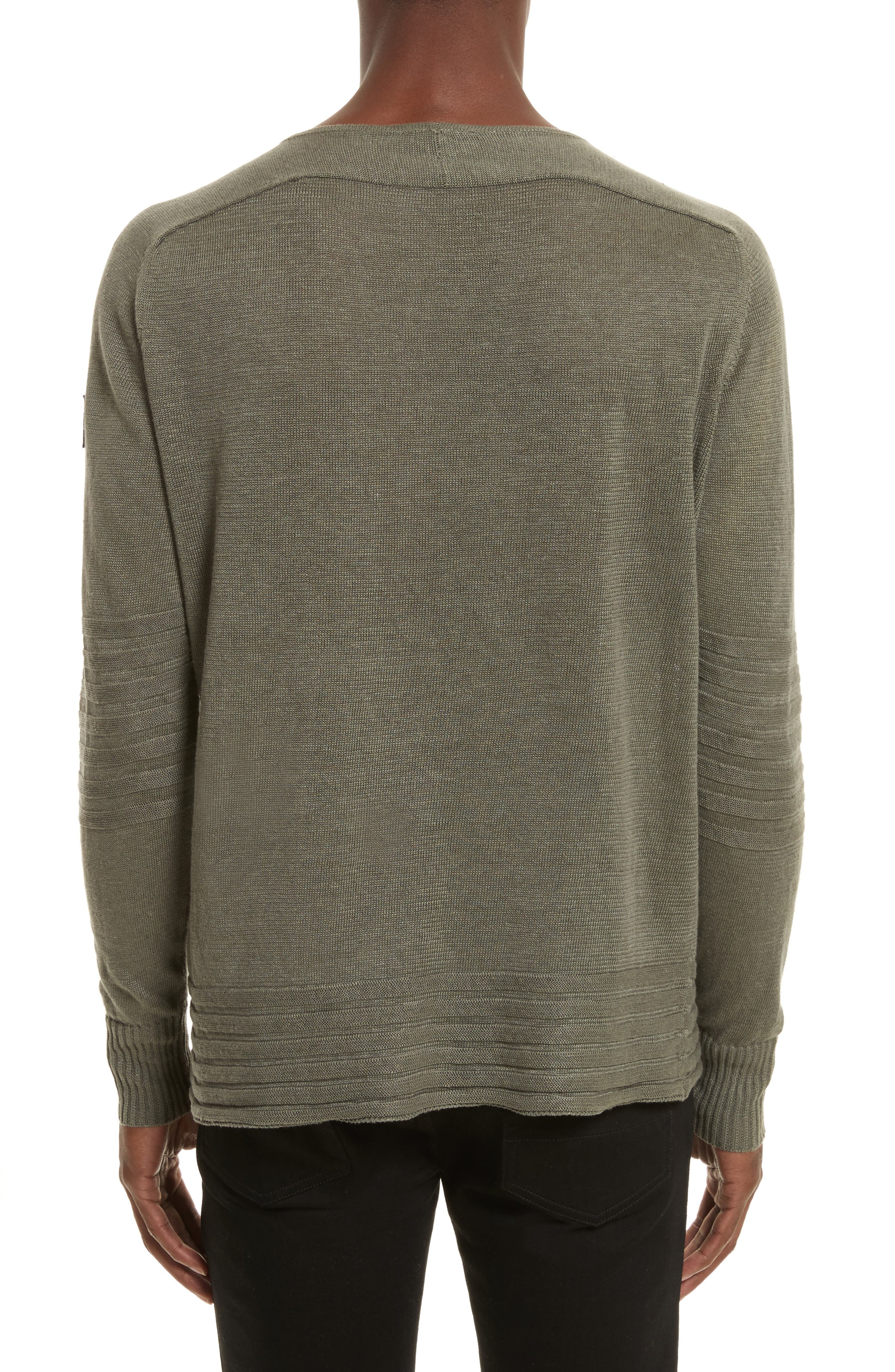 Exford Linen Crewneck Sweater,                             Alternate thumbnail 4, color,