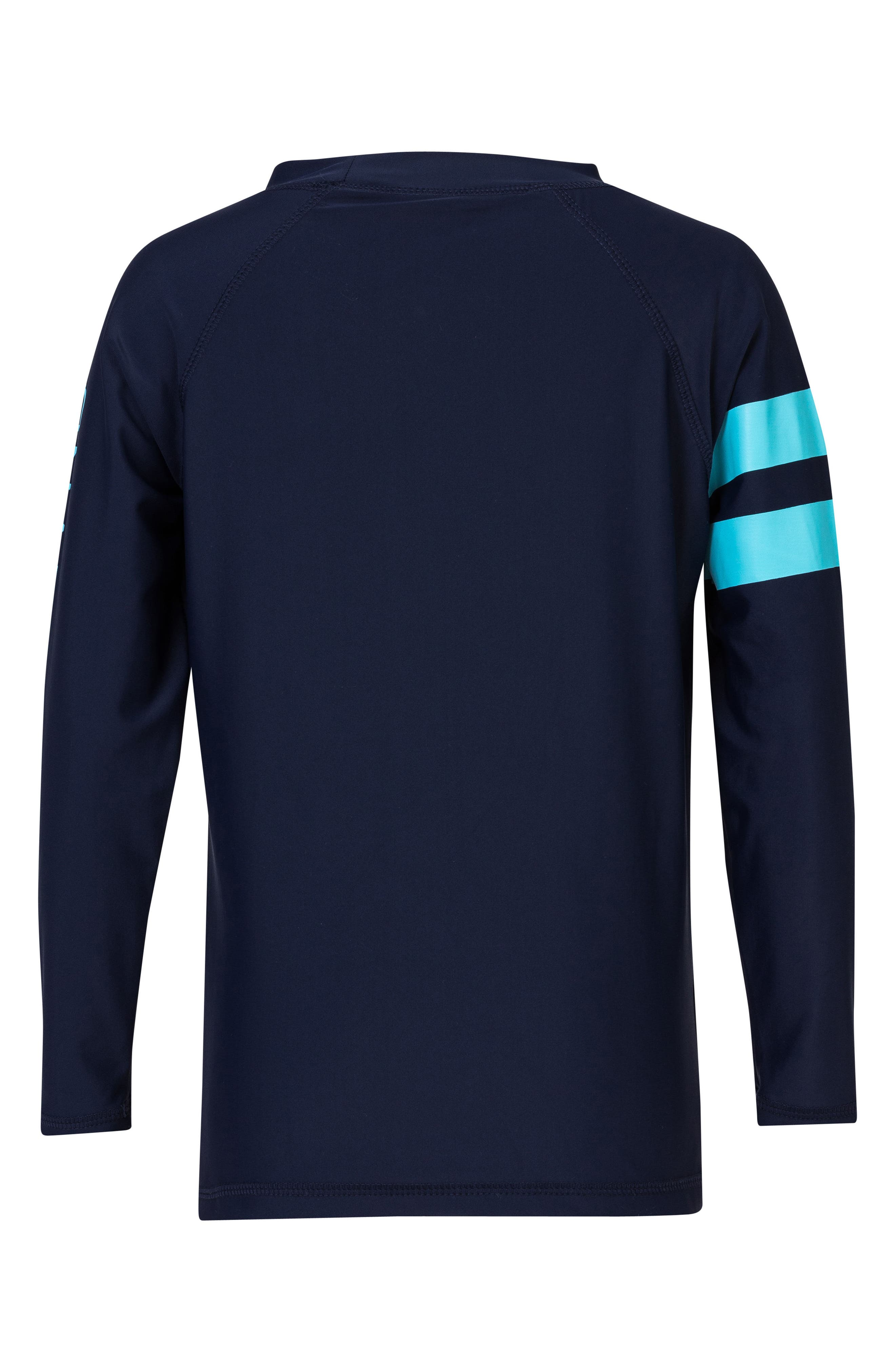 Raglan Long Sleeve Rashguard,                             Alternate thumbnail 2, color,                             NAVY/ LIGHT BLUE STRIPE