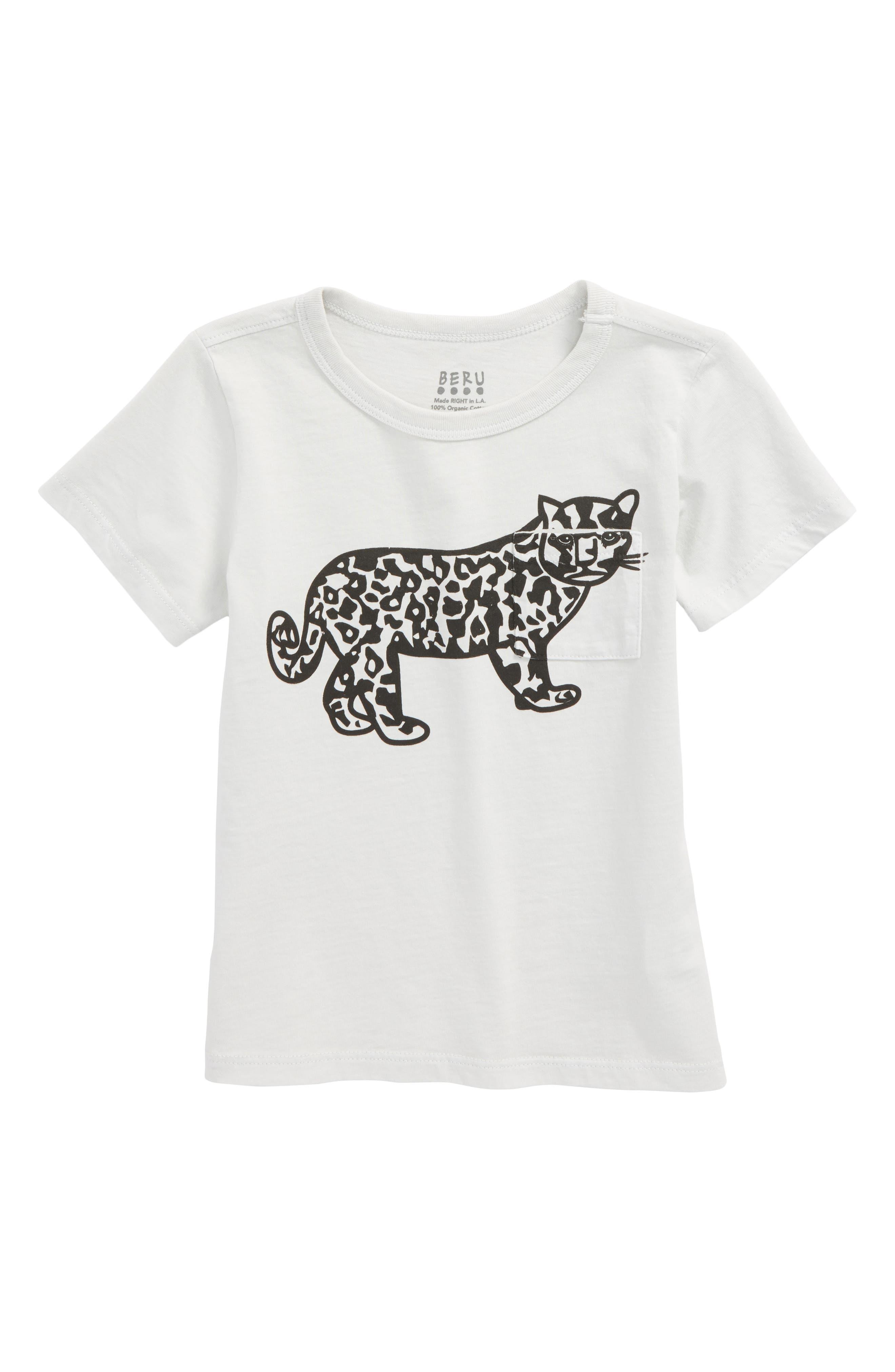 Huxley Leopard Graphic Organic Cotton T-Shirt,                         Main,                         color, 100