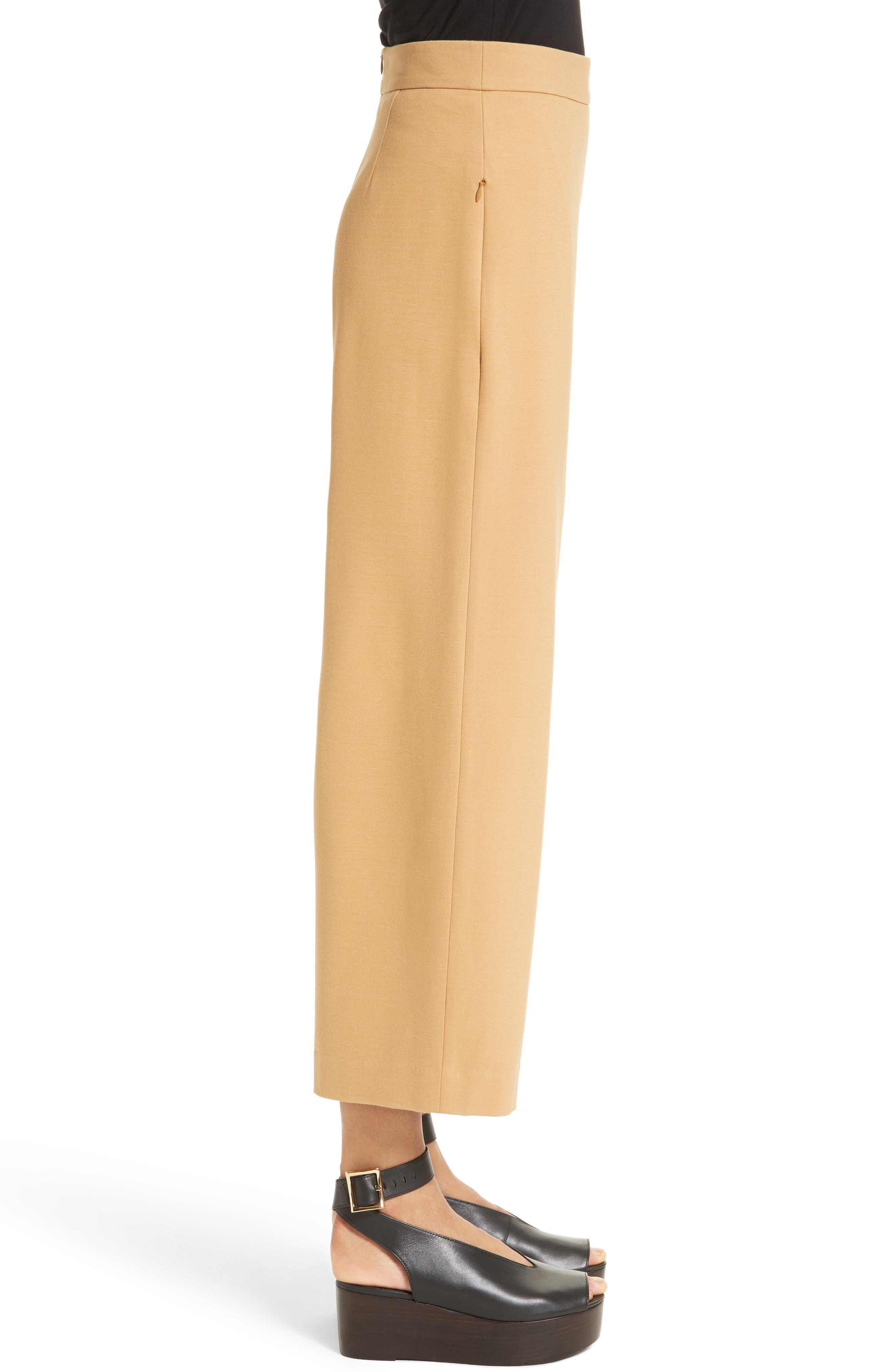 High Rise Knit Crop Wide Leg Pants,                             Alternate thumbnail 3, color,                             246