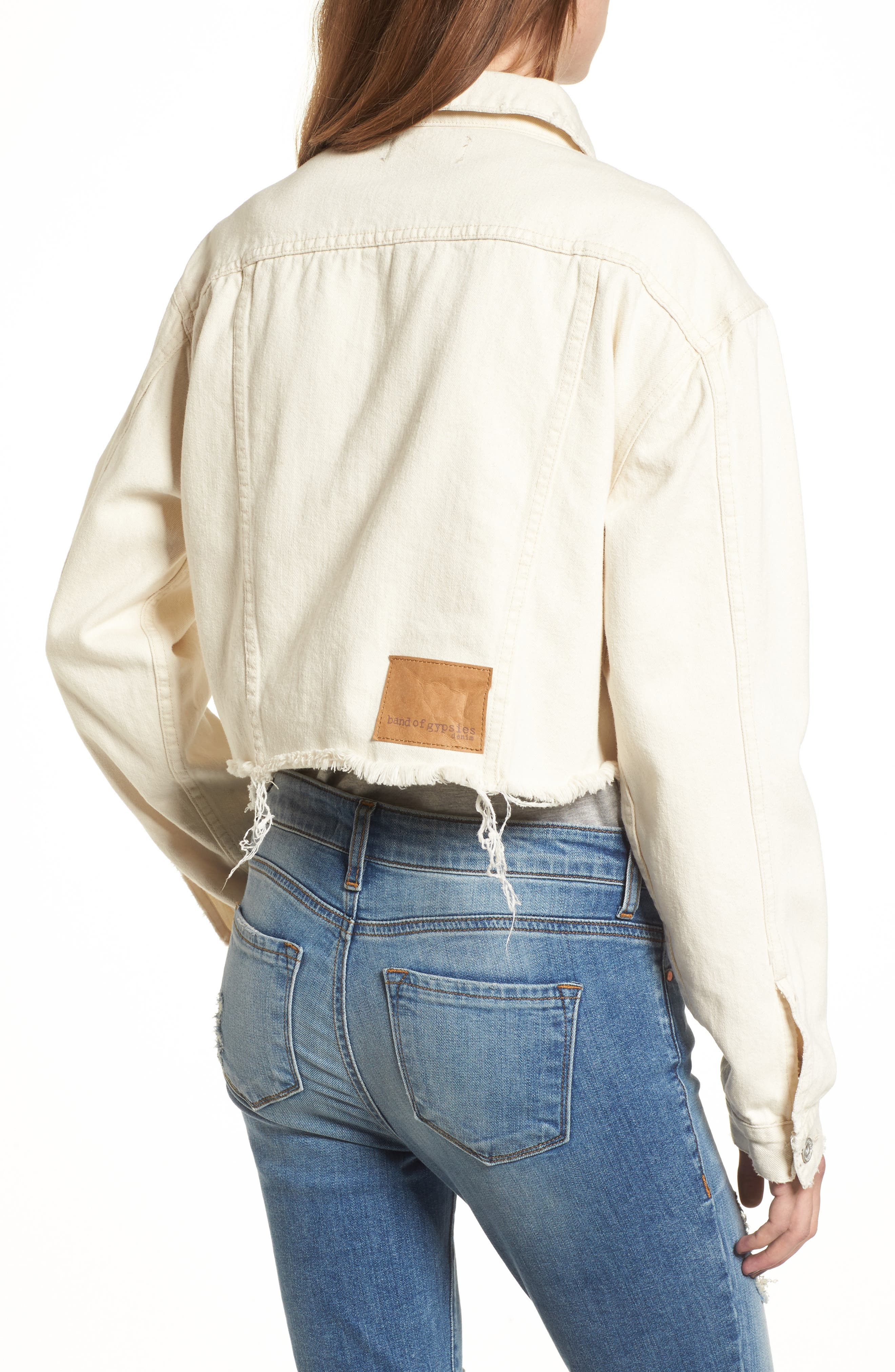 Bailey Cutoff Denim Jacket,                             Alternate thumbnail 2, color,                             900