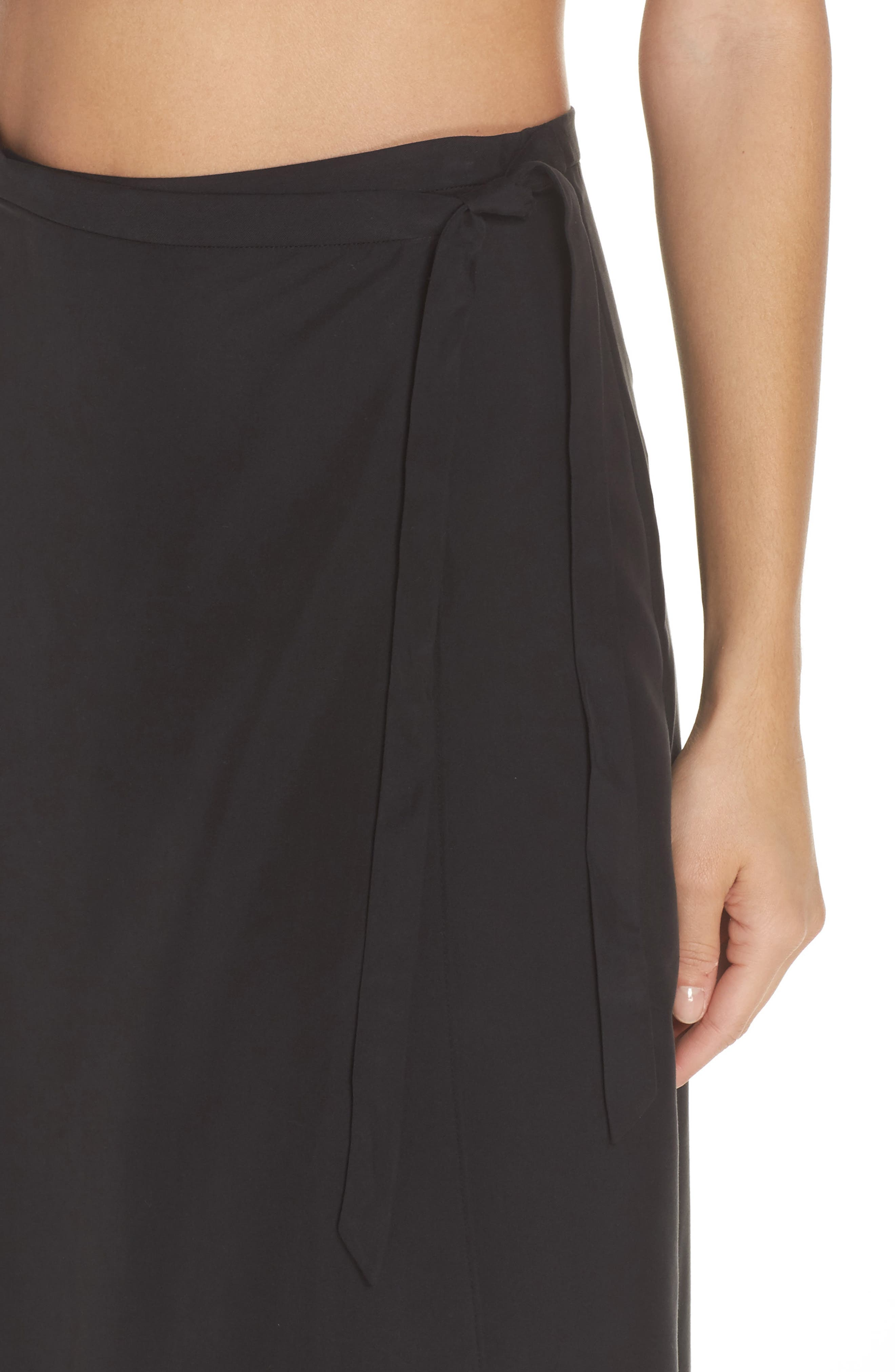 Lasting Impressions Cover-Up Maxi Skirt,                             Alternate thumbnail 4, color,                             001
