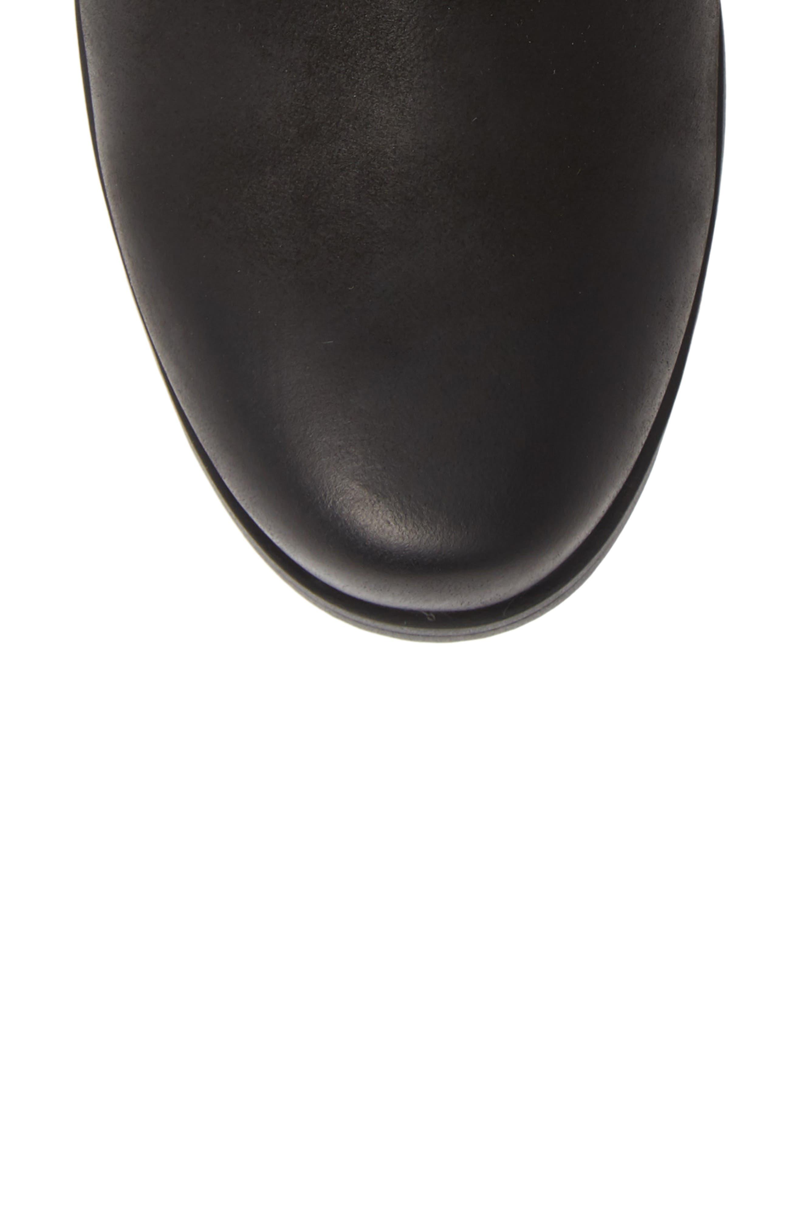 Emelie Waterproof Faux Fur Lined Boot,                             Alternate thumbnail 5, color,                             BLACK