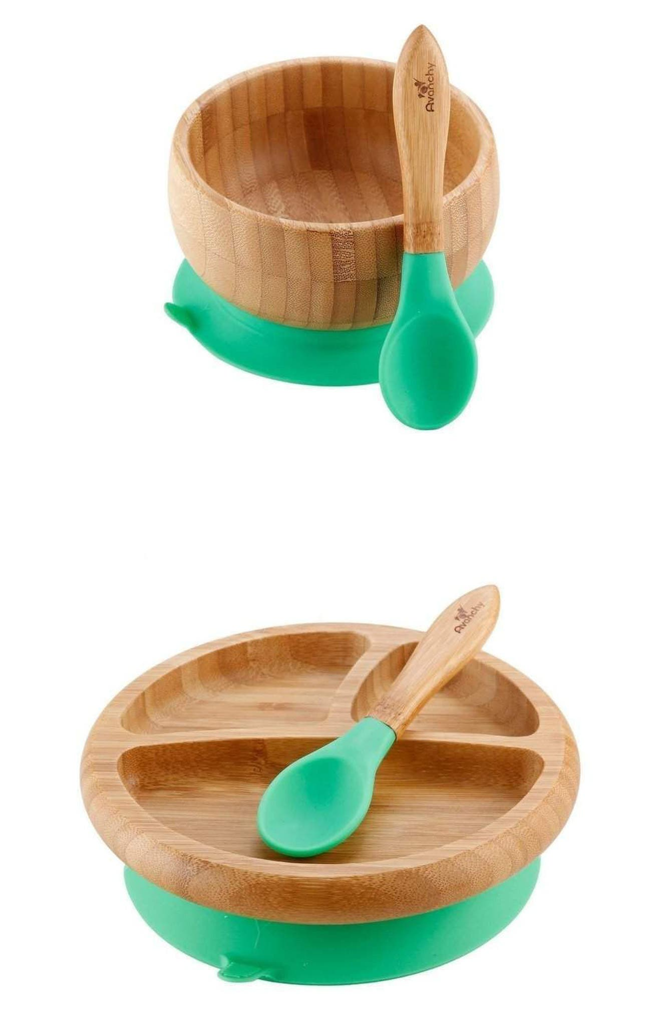 Baby Feeding Gift Set, Main, color, GREEN