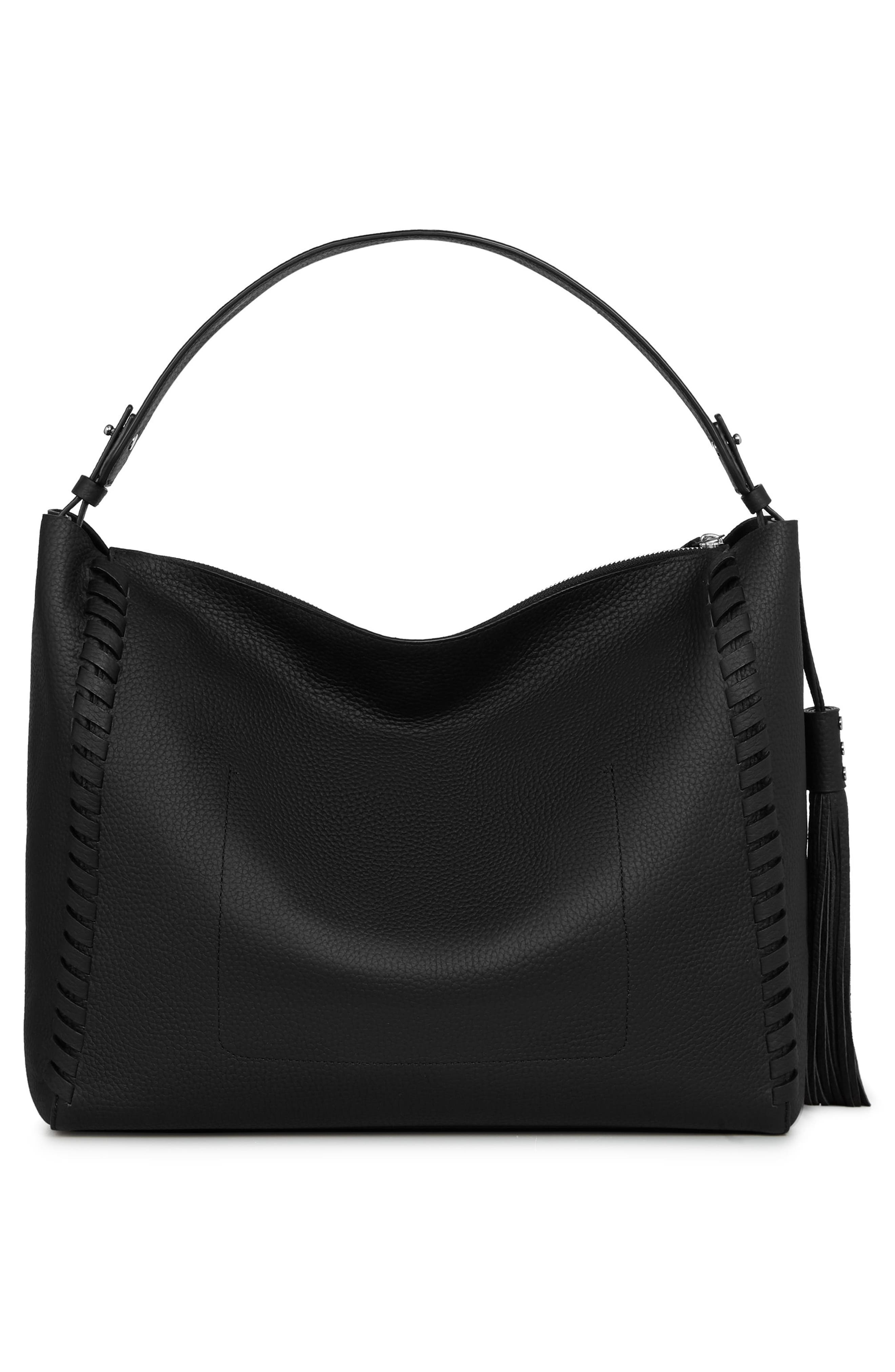 Kepi East/West Leather Tote,                             Alternate thumbnail 2, color,                             BLACK