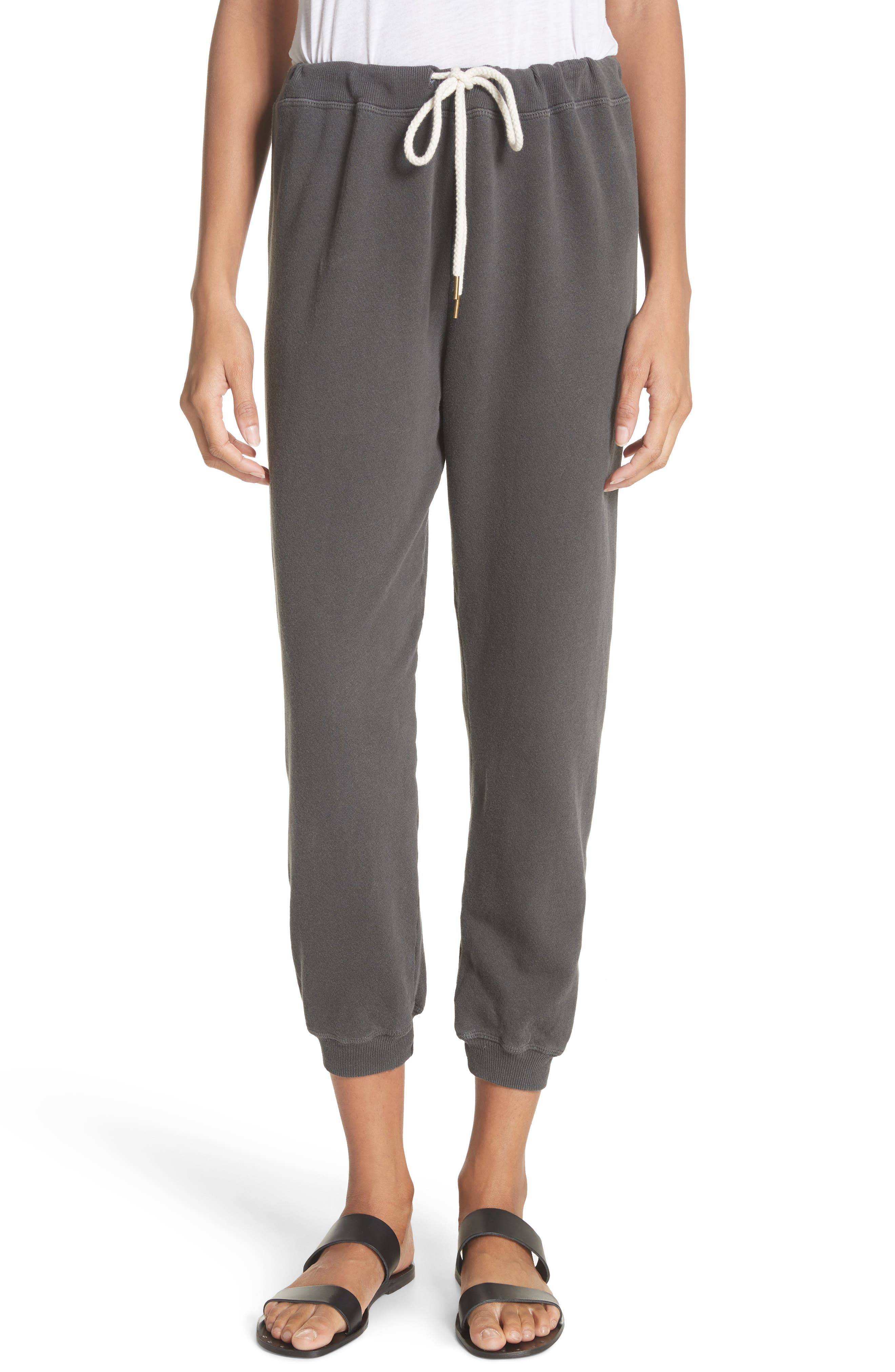 The Cropped Jogger Pants,                         Main,                         color, WASHED BLACK