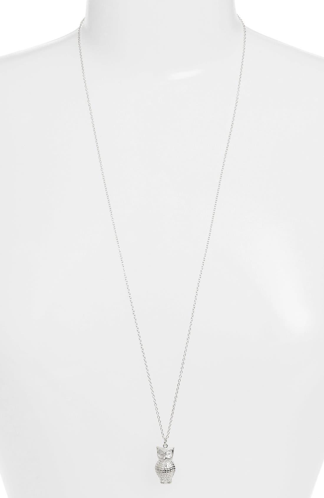 'Animals' Long Owl Pendant Necklace,                             Alternate thumbnail 2, color,                             040