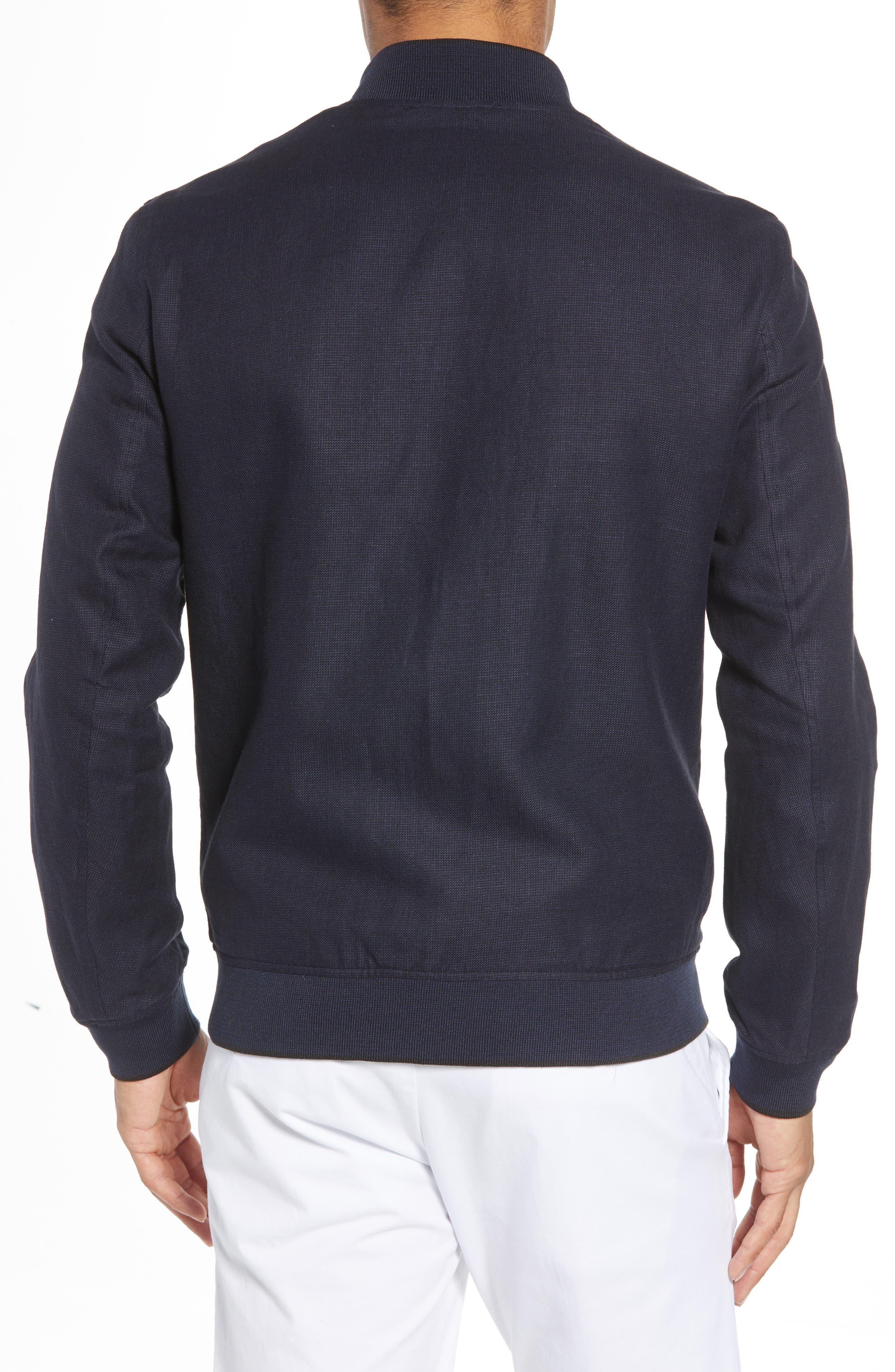 Raney Trim Fit Linen & Cotton Jacket,                             Alternate thumbnail 2, color,                             410